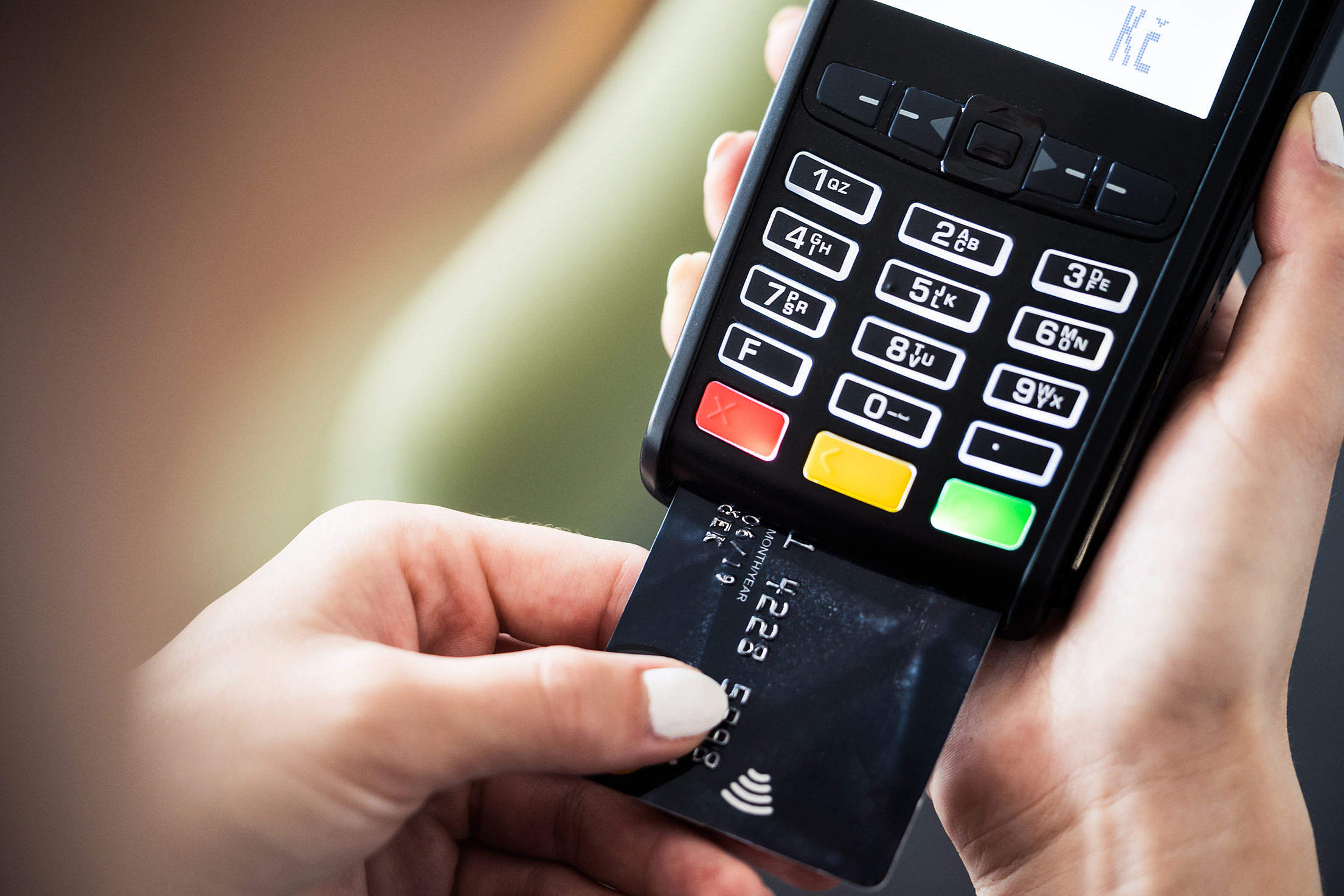 Credit Card Terminal Payment Free Stock Photo