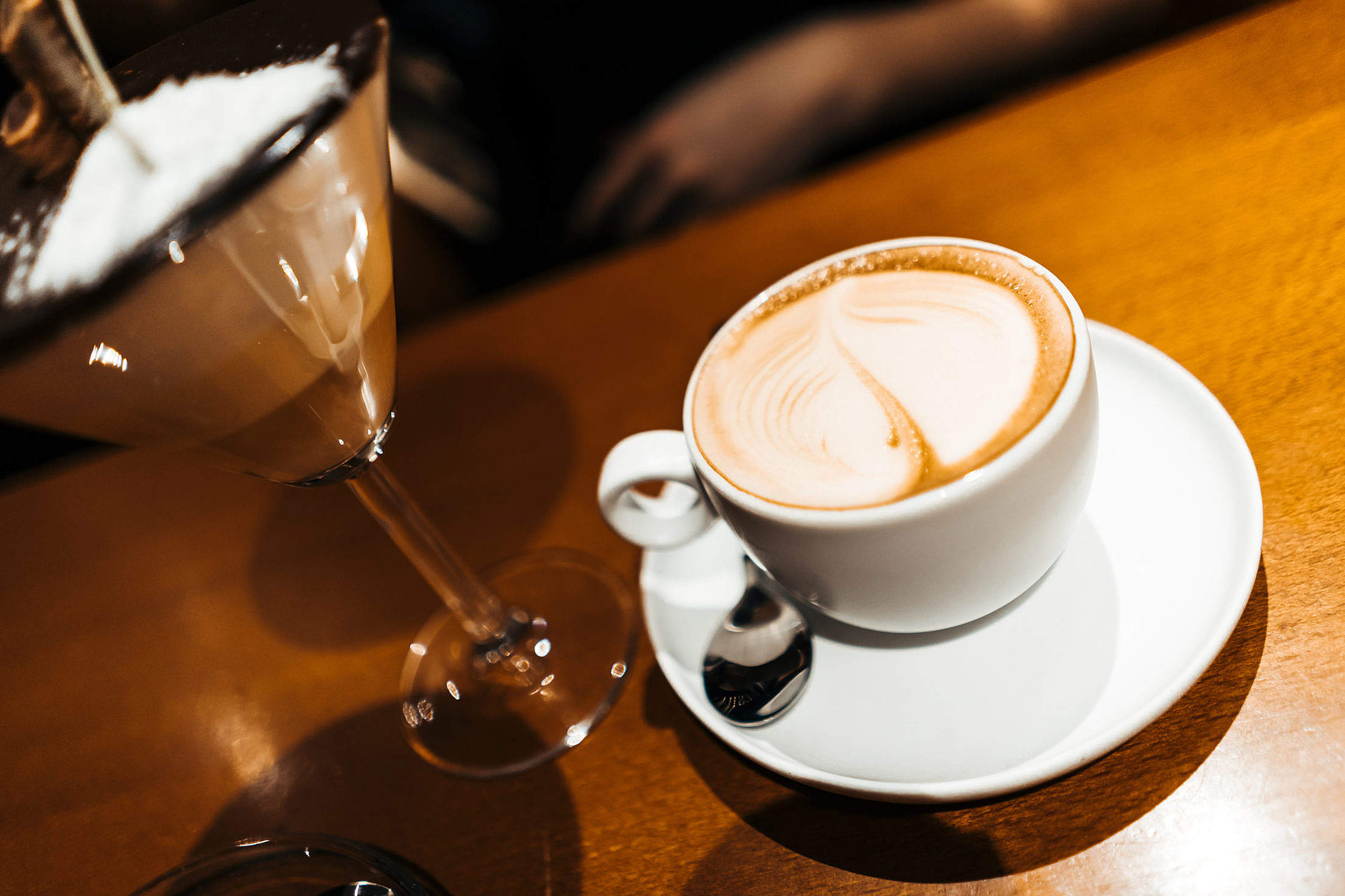 Cup of Coffee in a Bar Free Stock Photo