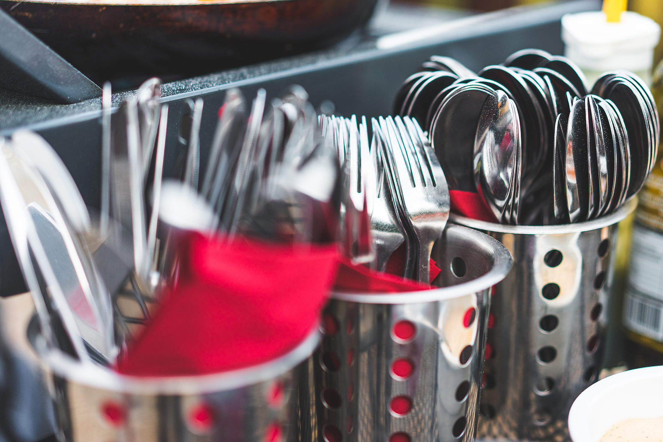 Cutlery on BBQ Party Free Stock Photo
