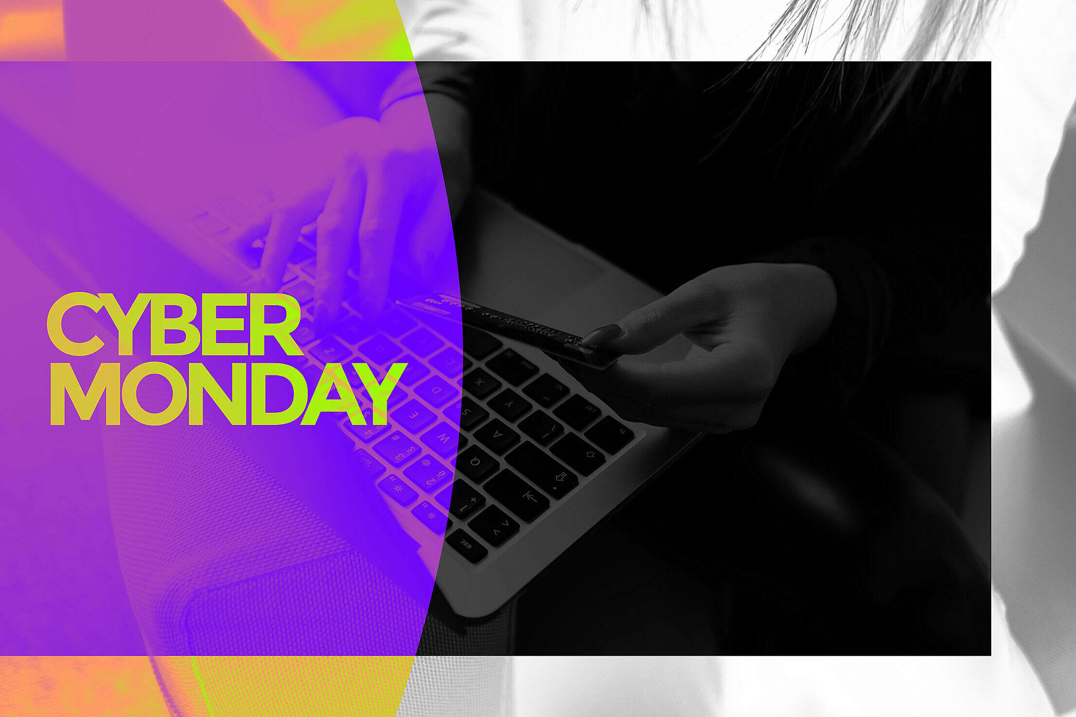 Cyber Monday Lettering Background Free Stock Photo