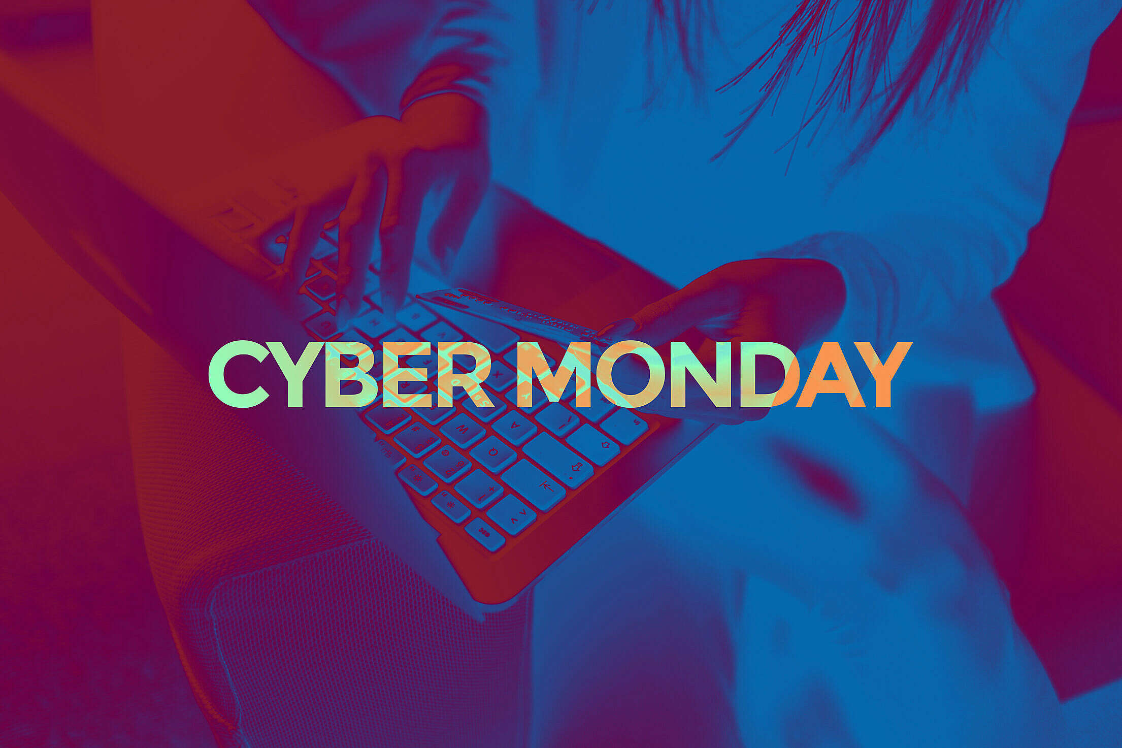 Cyber Monday Lettering Free Stock Photo