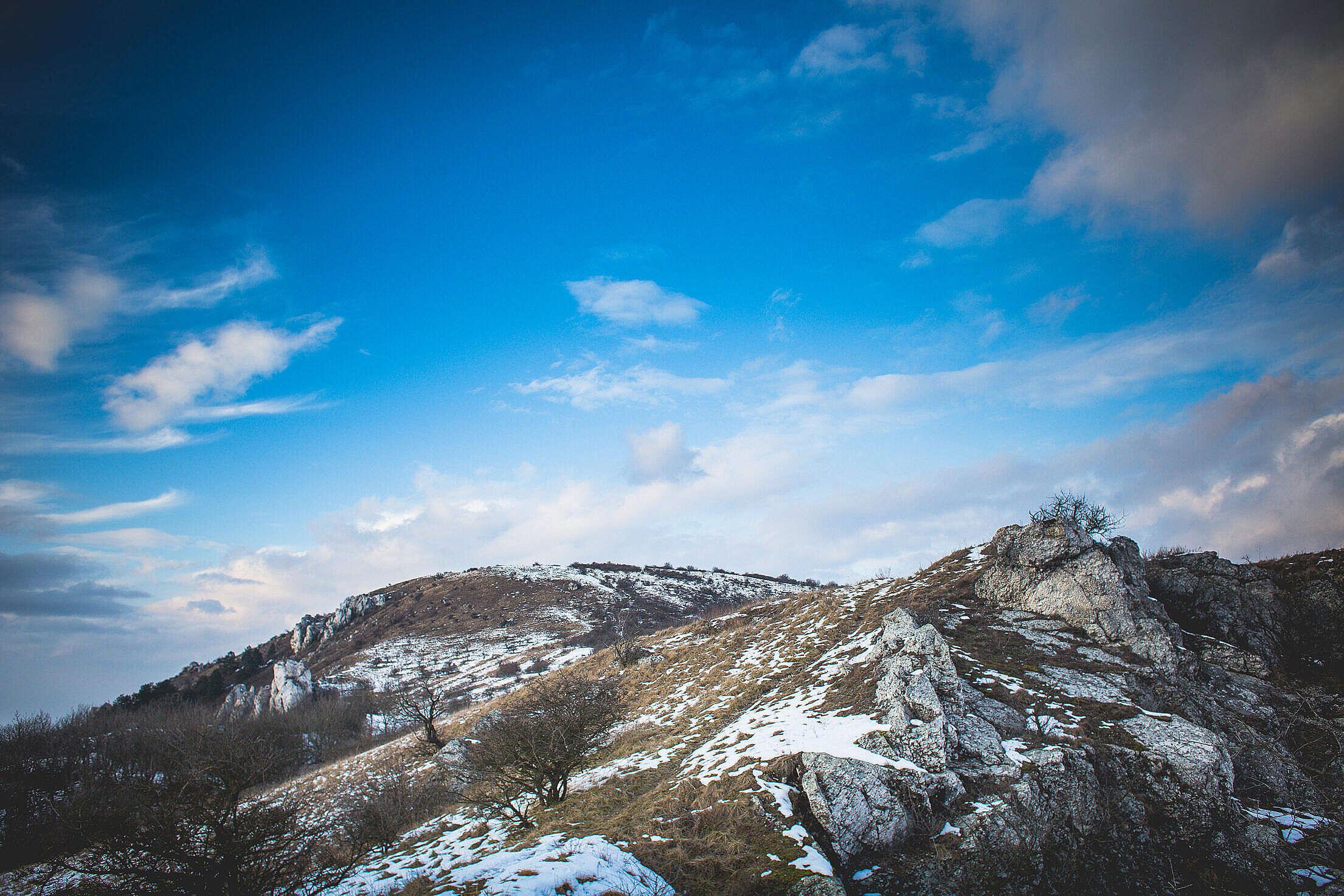 Czech Hills in Winter Free Stock Photo