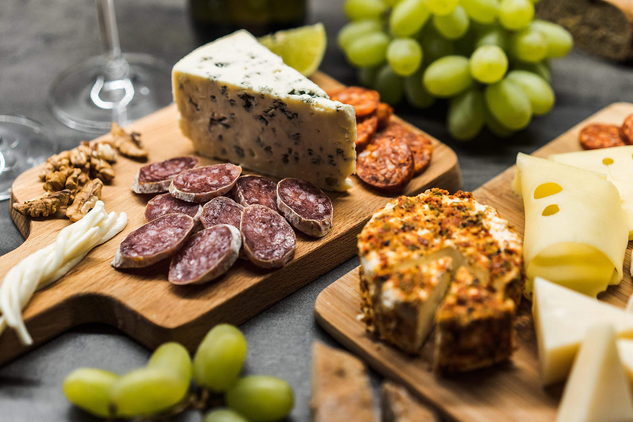 Danish Blue Cheese Gourmet Plate Free Stock Photo