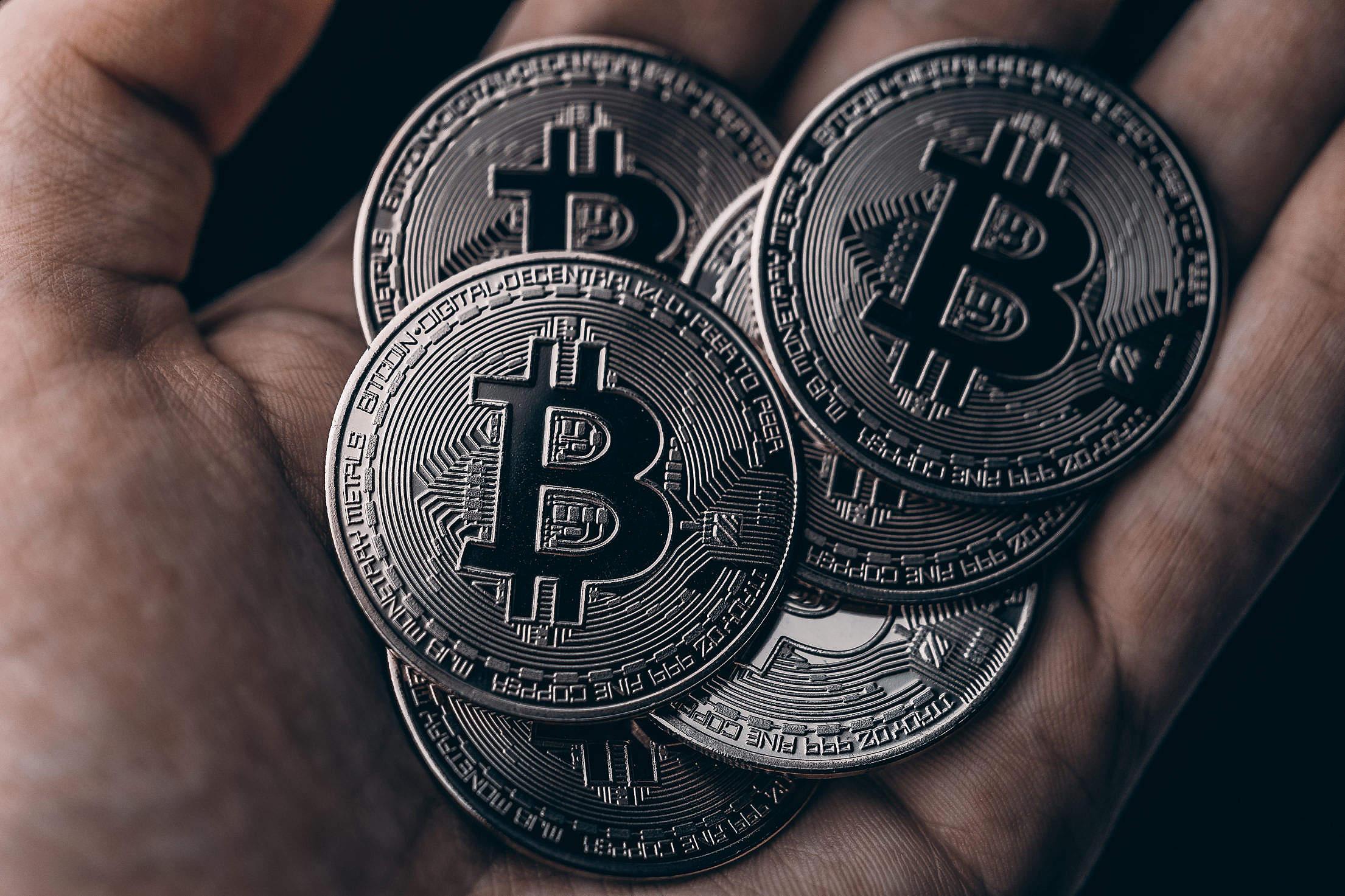Dark Black Bitcoins Free Stock Photo