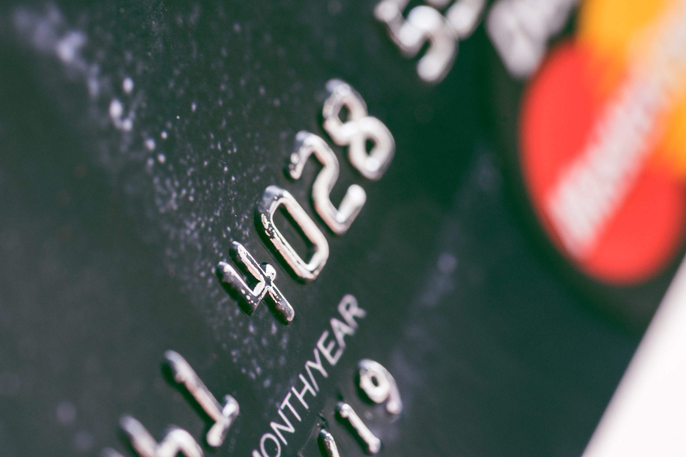 Debit Card Bank Numbers Close Up Free Stock Photo