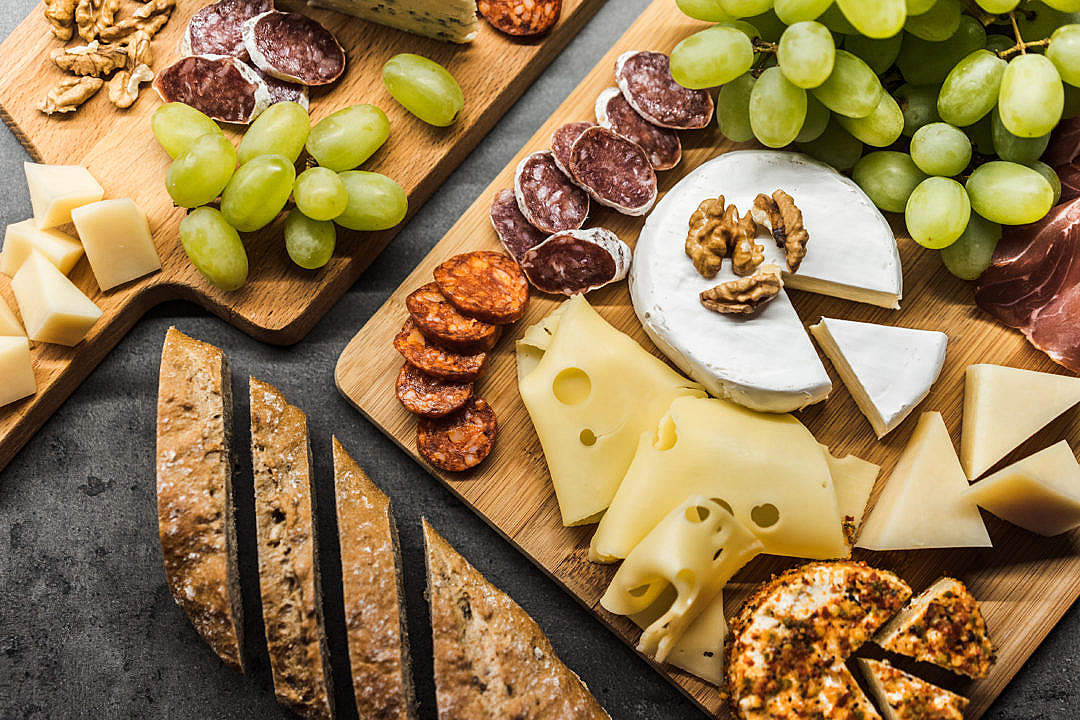 Download Delicious Gourmet Cheese Plate FREE Stock Photo