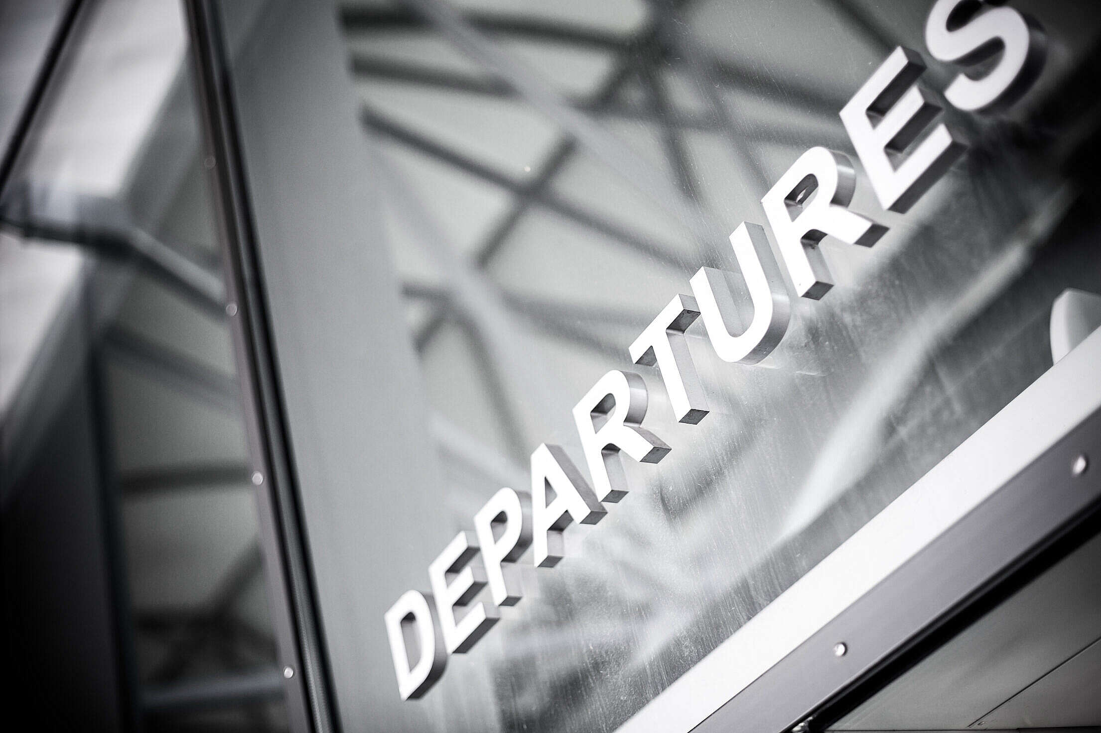 Departures Airport Sign Free Stock Photo