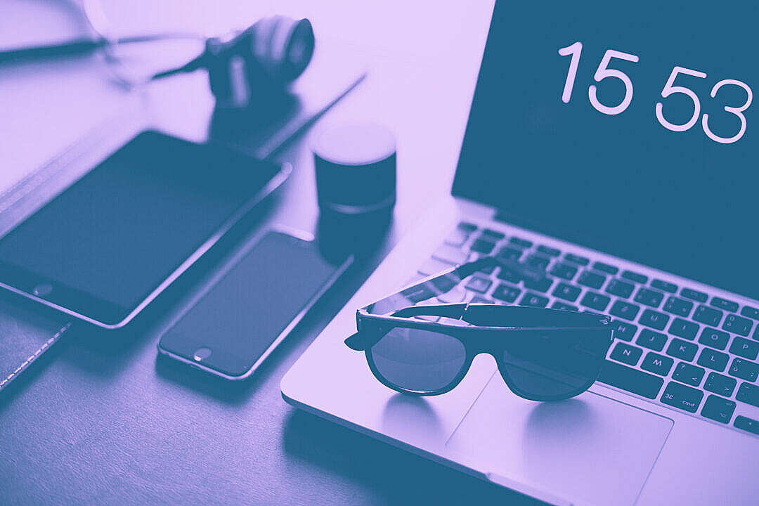 Download Designer Office Workspace Duotone Abstract FREE Stock Photo