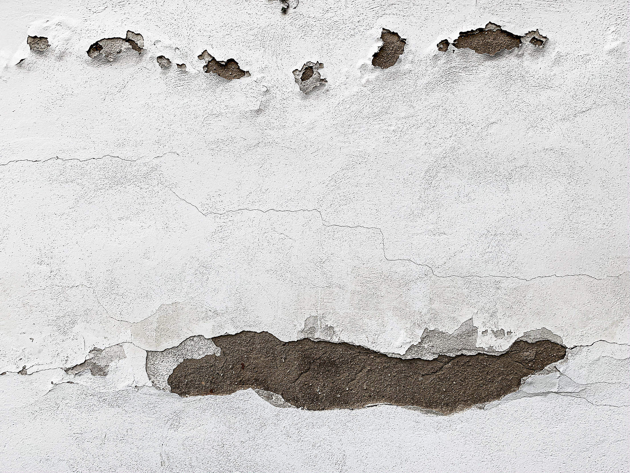 Destroyed Old Plaster Wall Free Stock Photo
