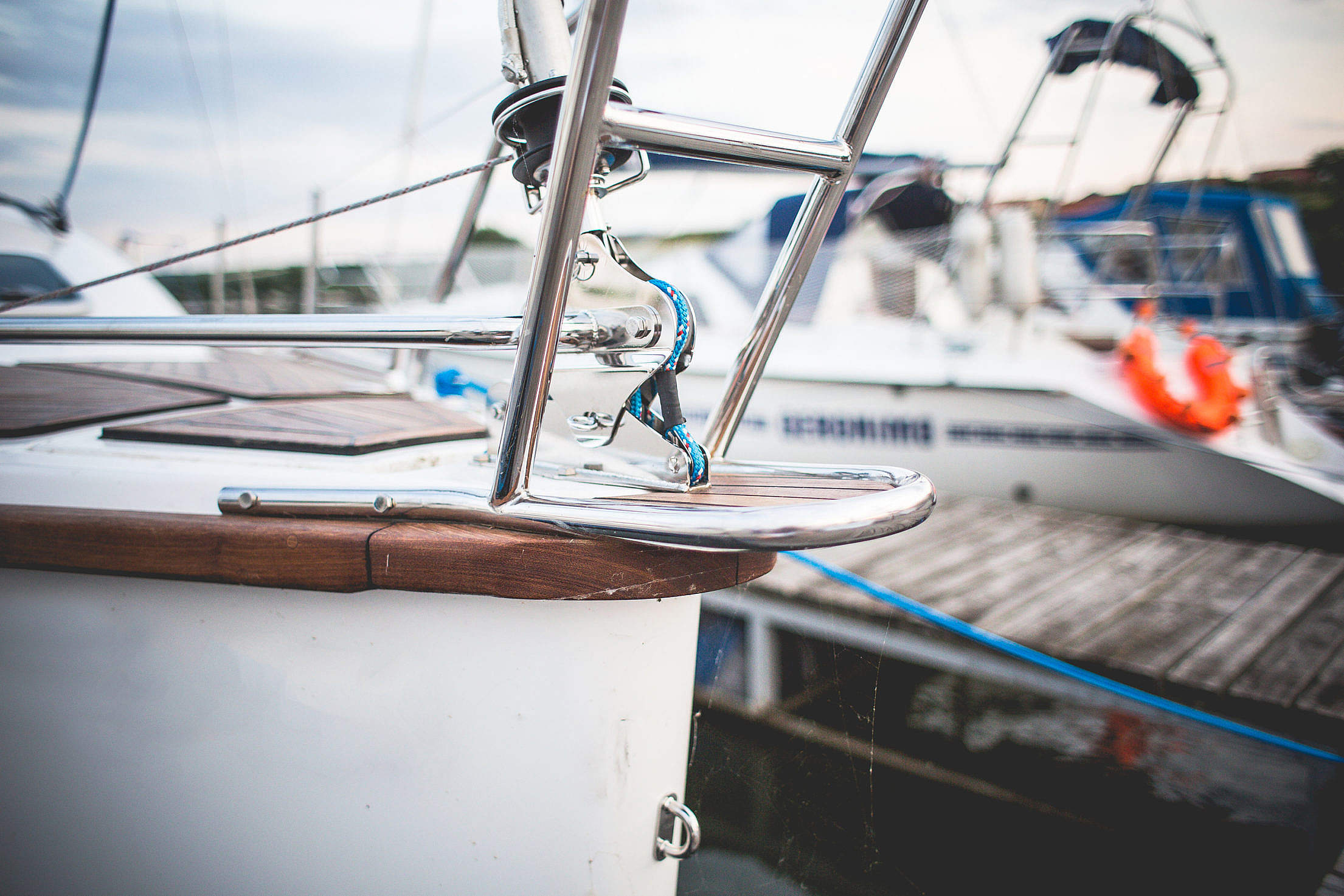 Detail of Sailboat Bow Free Stock Photo