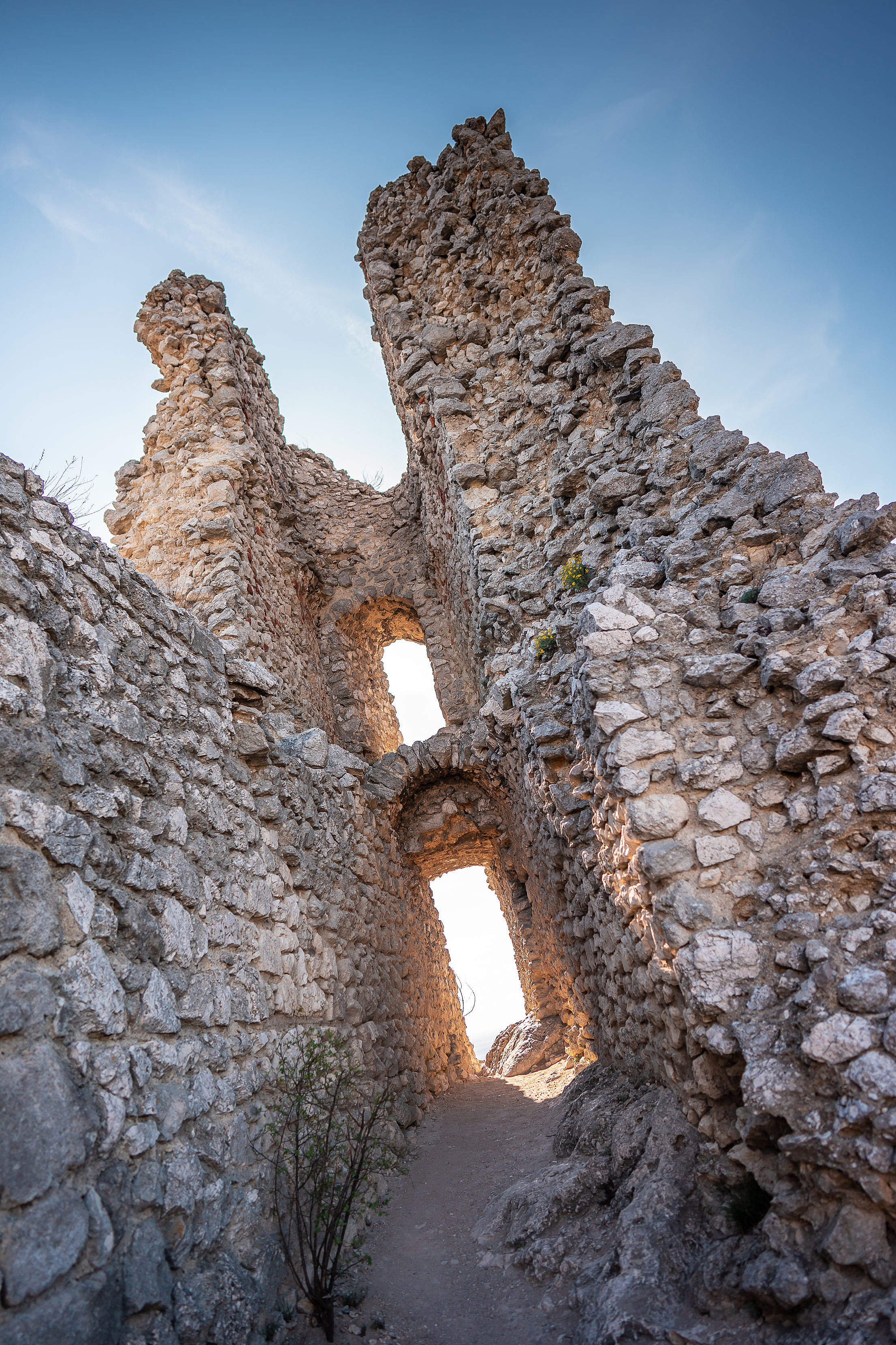 Detail of The Orphan's Castle Ruins in Klentnice Free Stock Photo