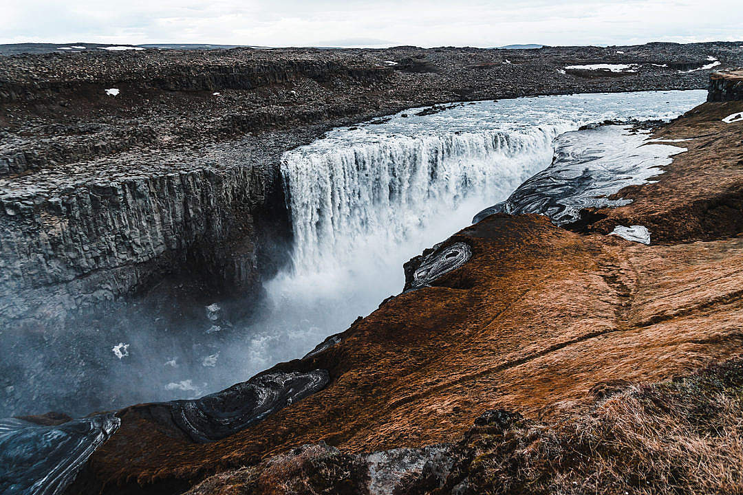 Download Dettifoss Waterfall in Iceland FREE Stock Photo