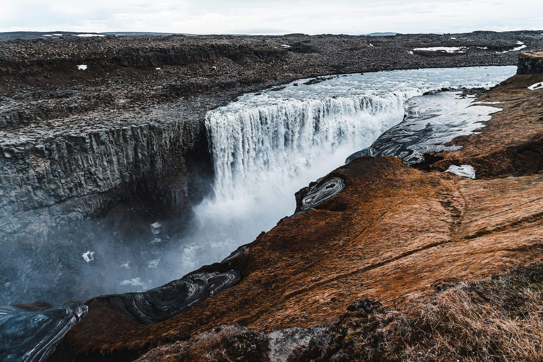 Dettifoss Waterfall in Iceland Free Stock Photo