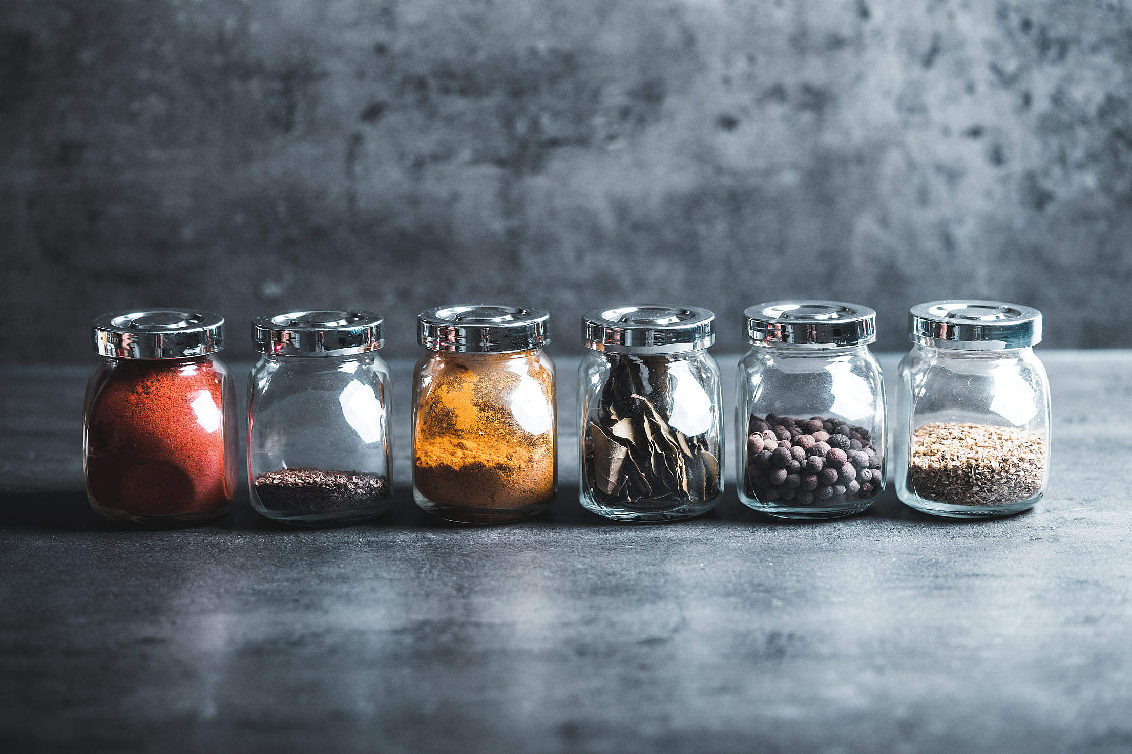Different Kinds of Spices Free Stock Photo