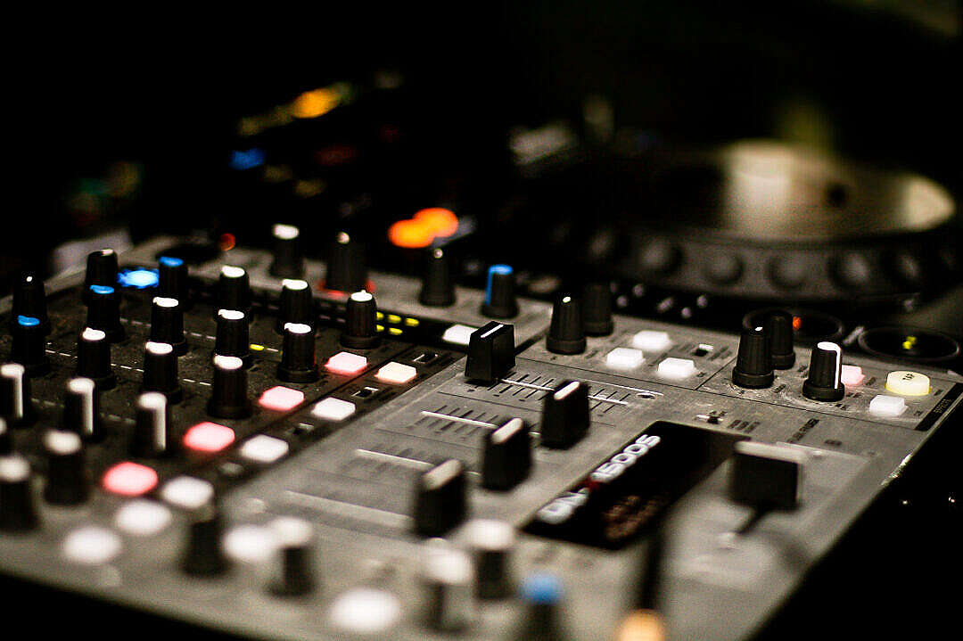 Download DJ Mix in The Club FREE Stock Photo
