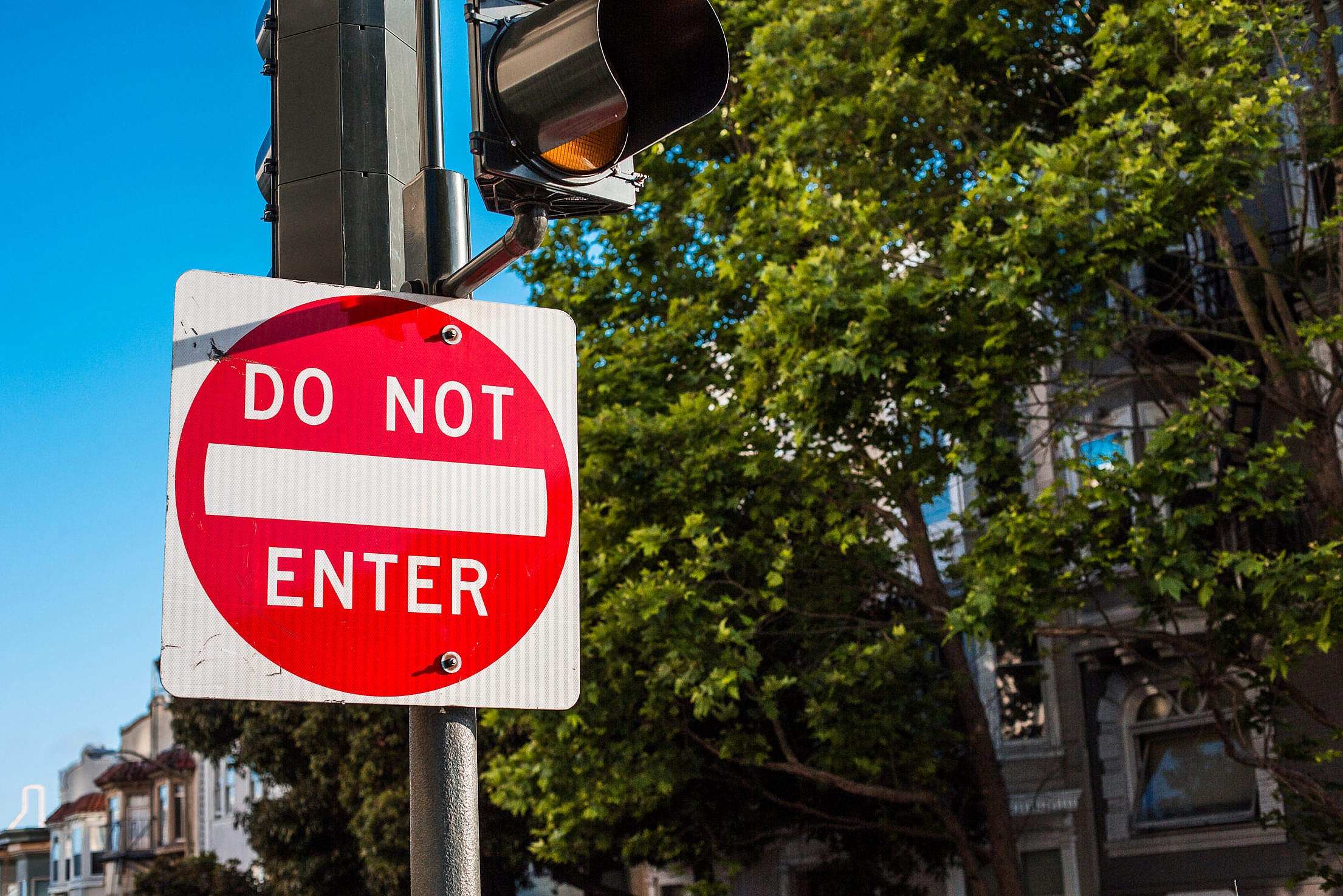 Do Not Enter Traffic Control Sign in San Francisco Free Stock Photo
