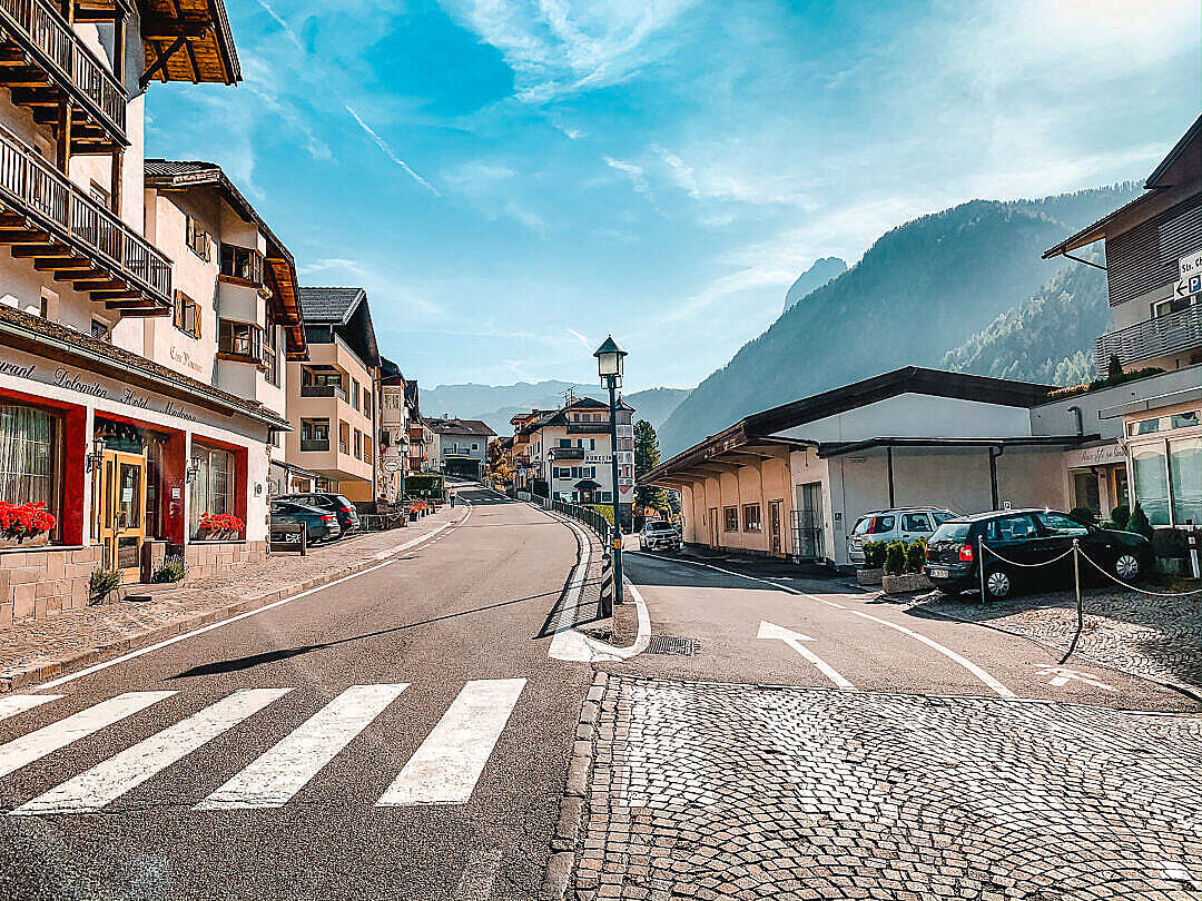 Download Dolomiti Villages in Italy FREE Stock Photo