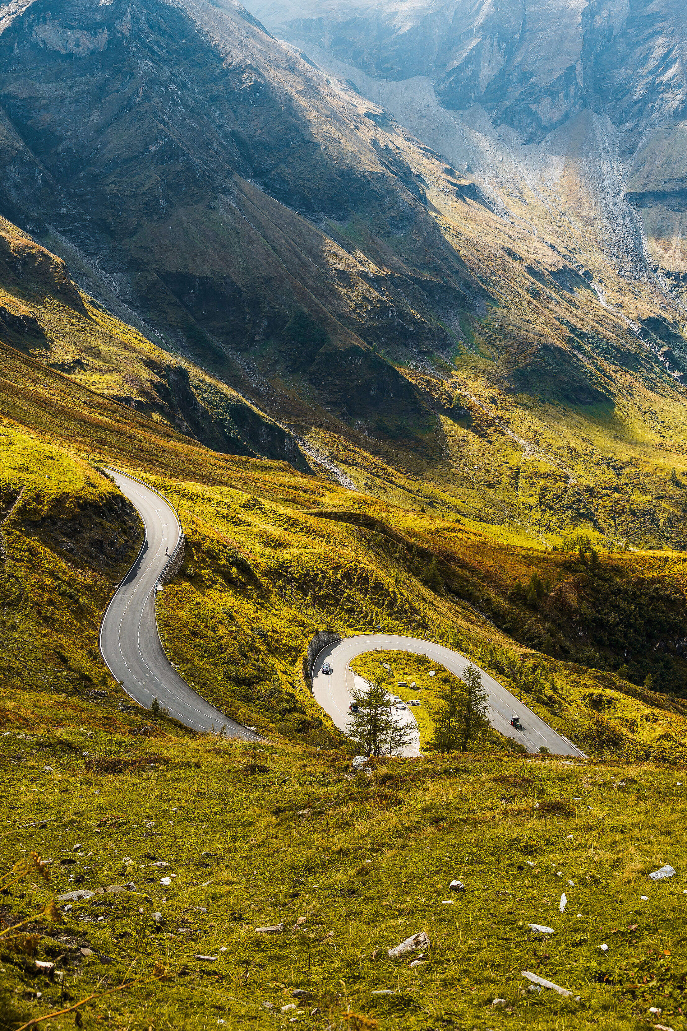 Dream Drive on Grossglockner Mountain Road Free Stock Photo