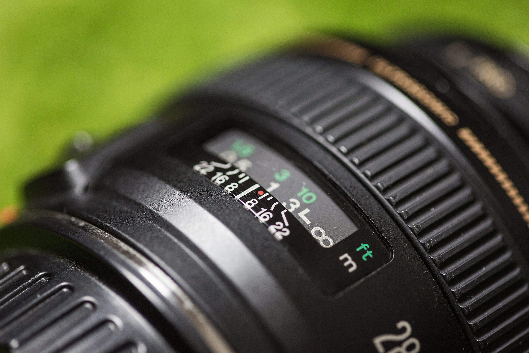 DSLR Camera Lens Macro Close Up Free Stock Photo