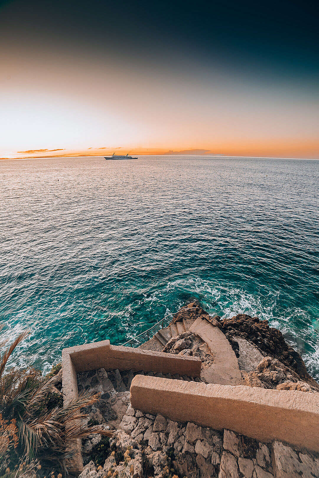 Download Early Morning in The Coast of Monaco FREE Stock Photo