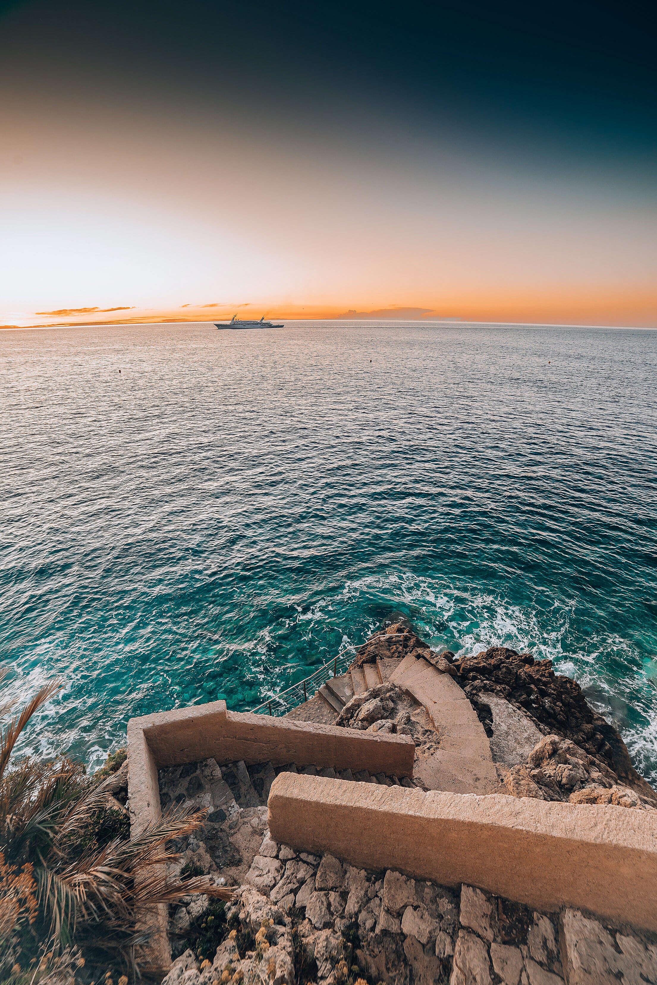 Early Morning in The Coast of Monaco Free Stock Photo