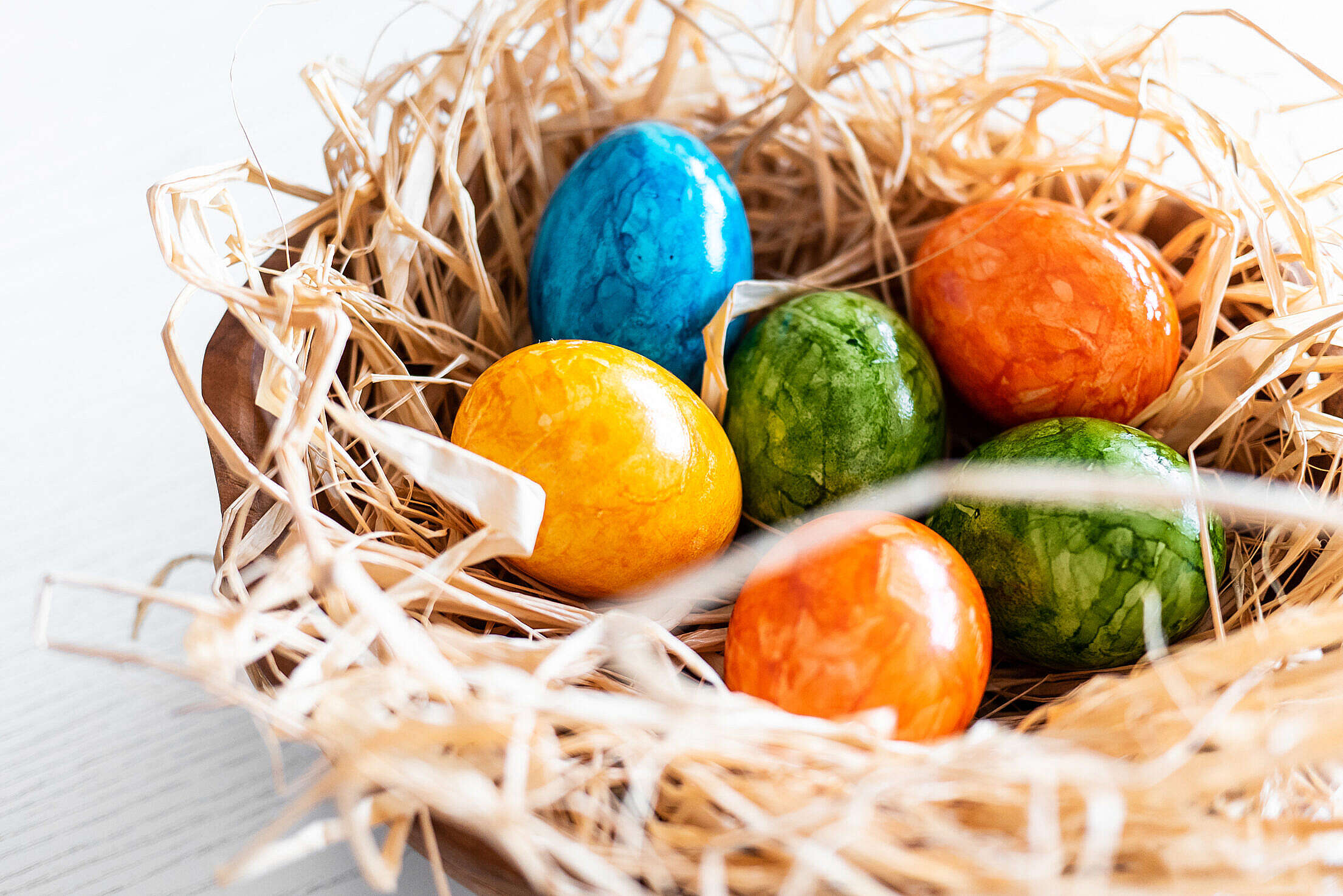 Easter Eggs Colored Close Up Free Stock Photo