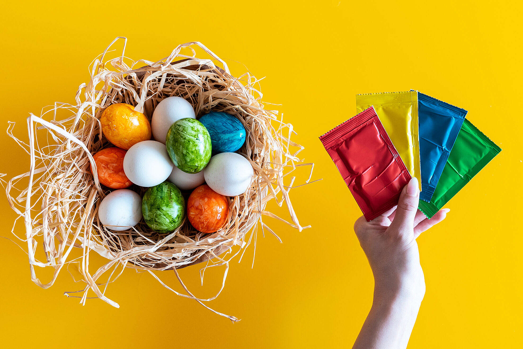 Easter Eggs Coloring Free Stock Photo