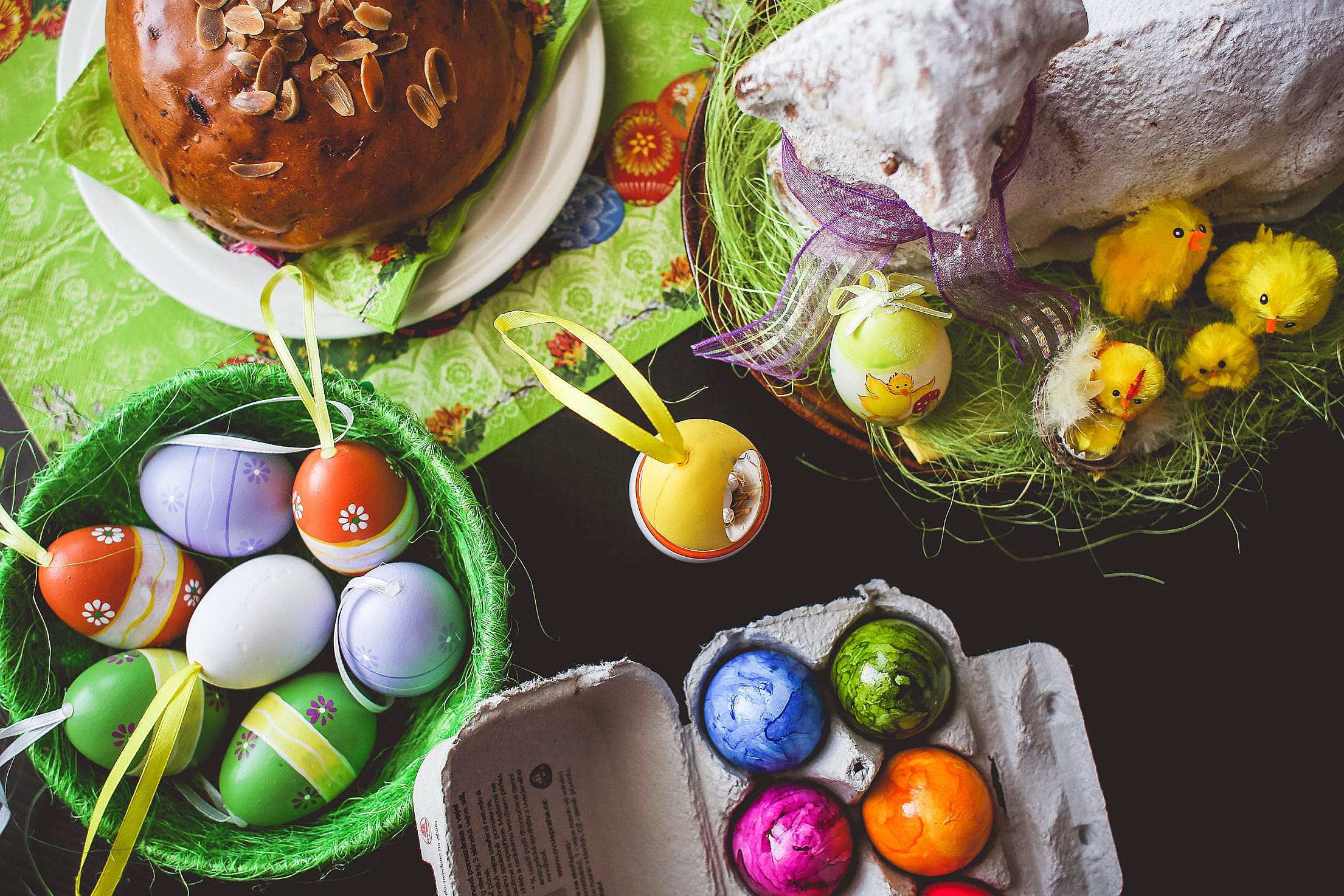 Easter Table Setting Free Stock Photo