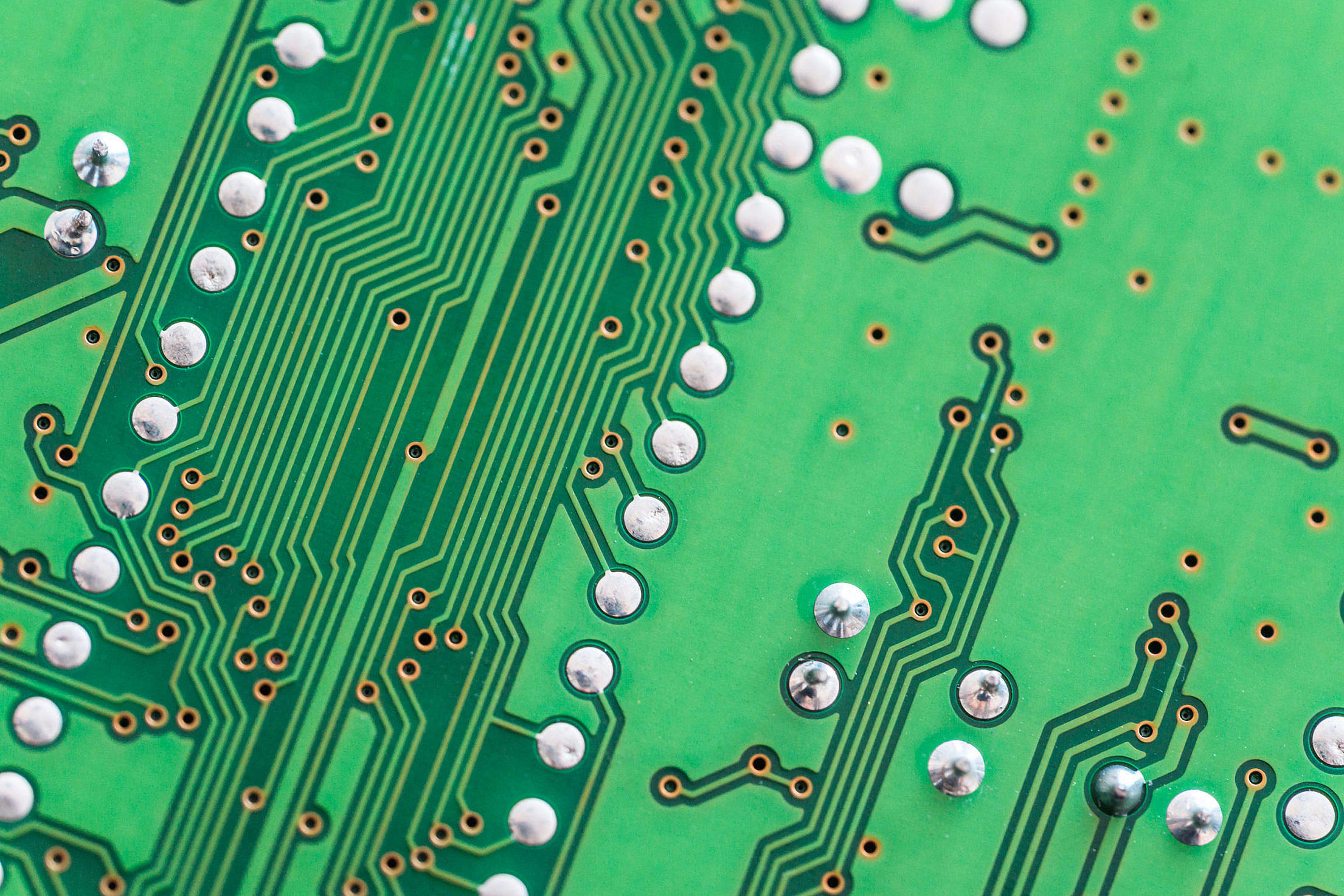 Electronic Circuit Board Close Up Background Free Stock Photo