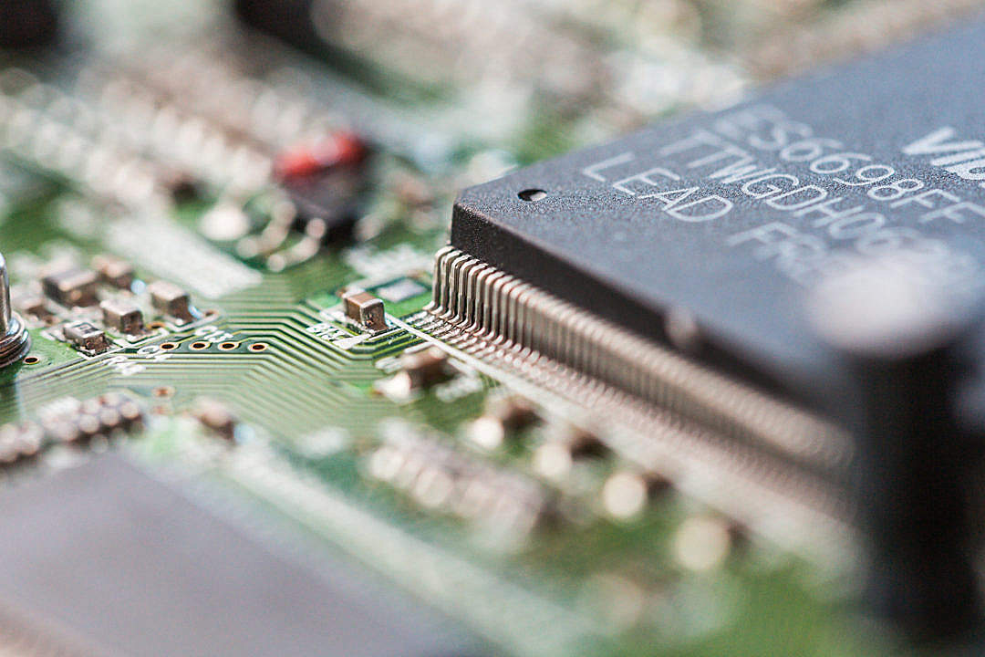 Download Electronics Chip Board Hardware Close Up #2 FREE Stock Photo