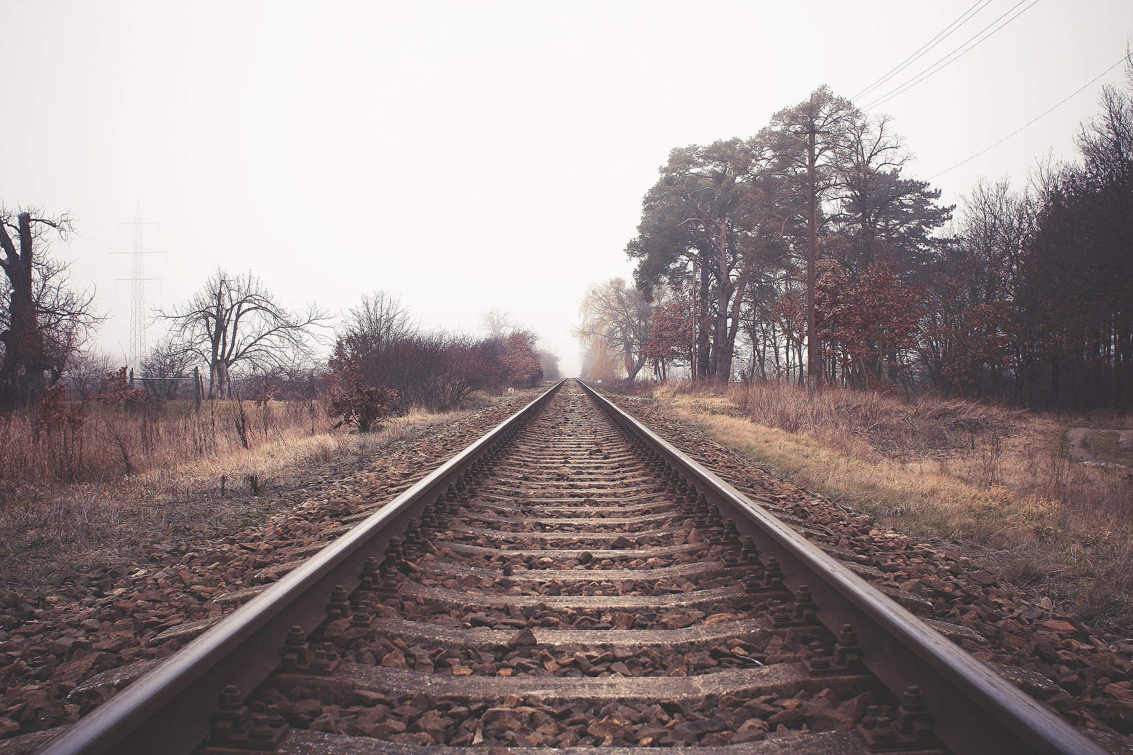 Endless Railway Free Stock Photo