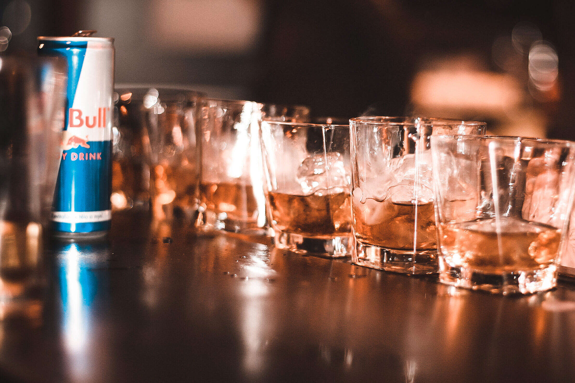 Energy Drink with Alcohol Party Drinking Free Stock Photo