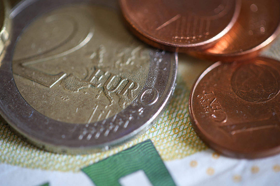 Download Euro € Coins Close Up FREE Stock Photo