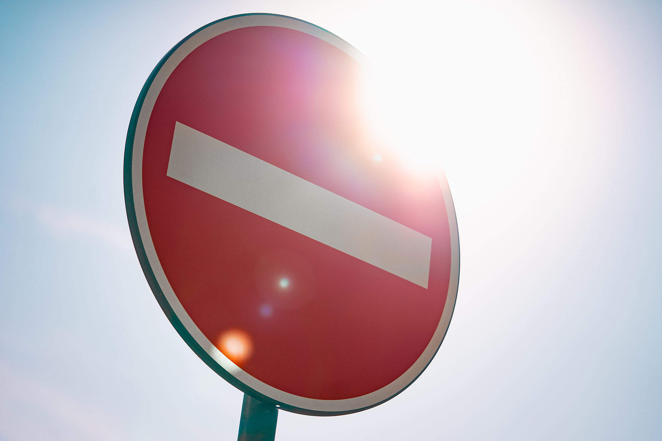 European No Entry For Vehicular Traffic Road Sign Free Stock Photo