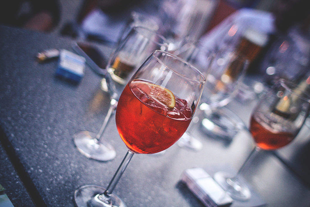 Download Evening Party With Aperol Spritz FREE Stock Photo