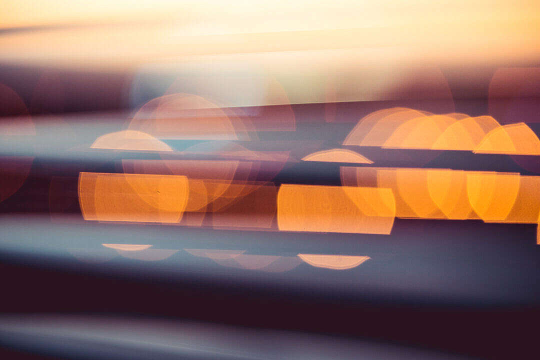 Download Evening Sunset Abstract City Lights Bokeh #2 FREE Stock Photo