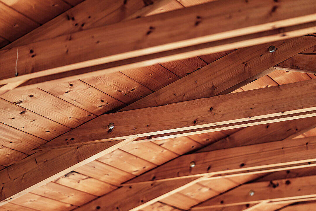 Download Exposed Wooden Beams Ceiling Roof FREE Stock Photo