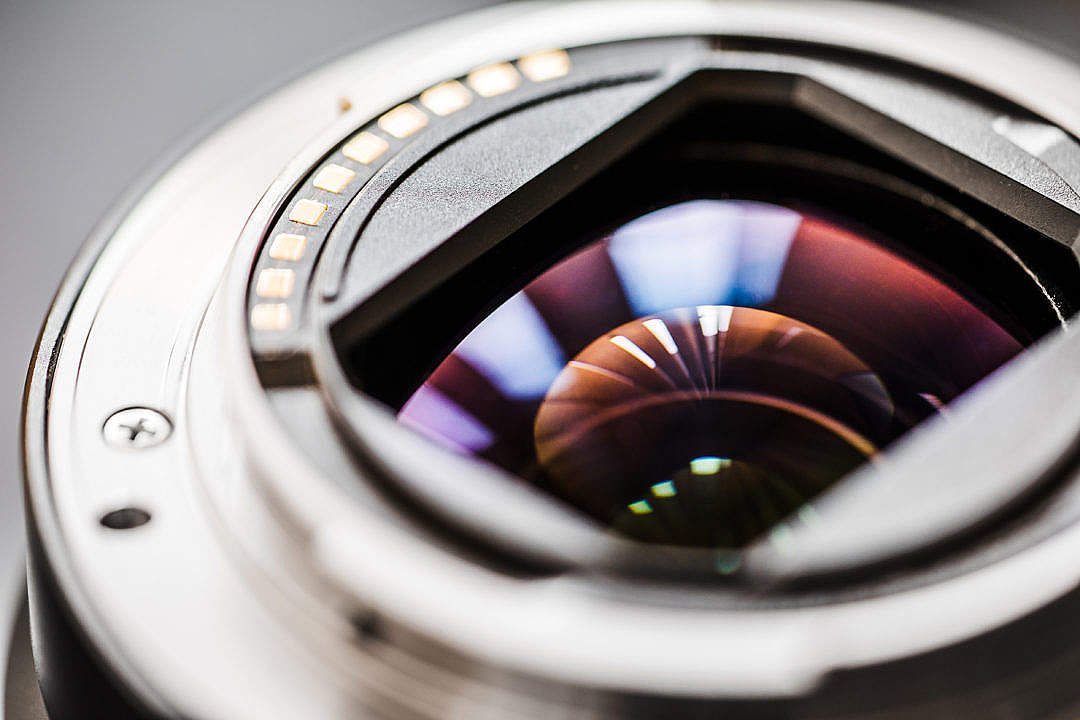 Download Exposed Zoom Camera Lens Electronics Rear Side Close Up FREE Stock Photo
