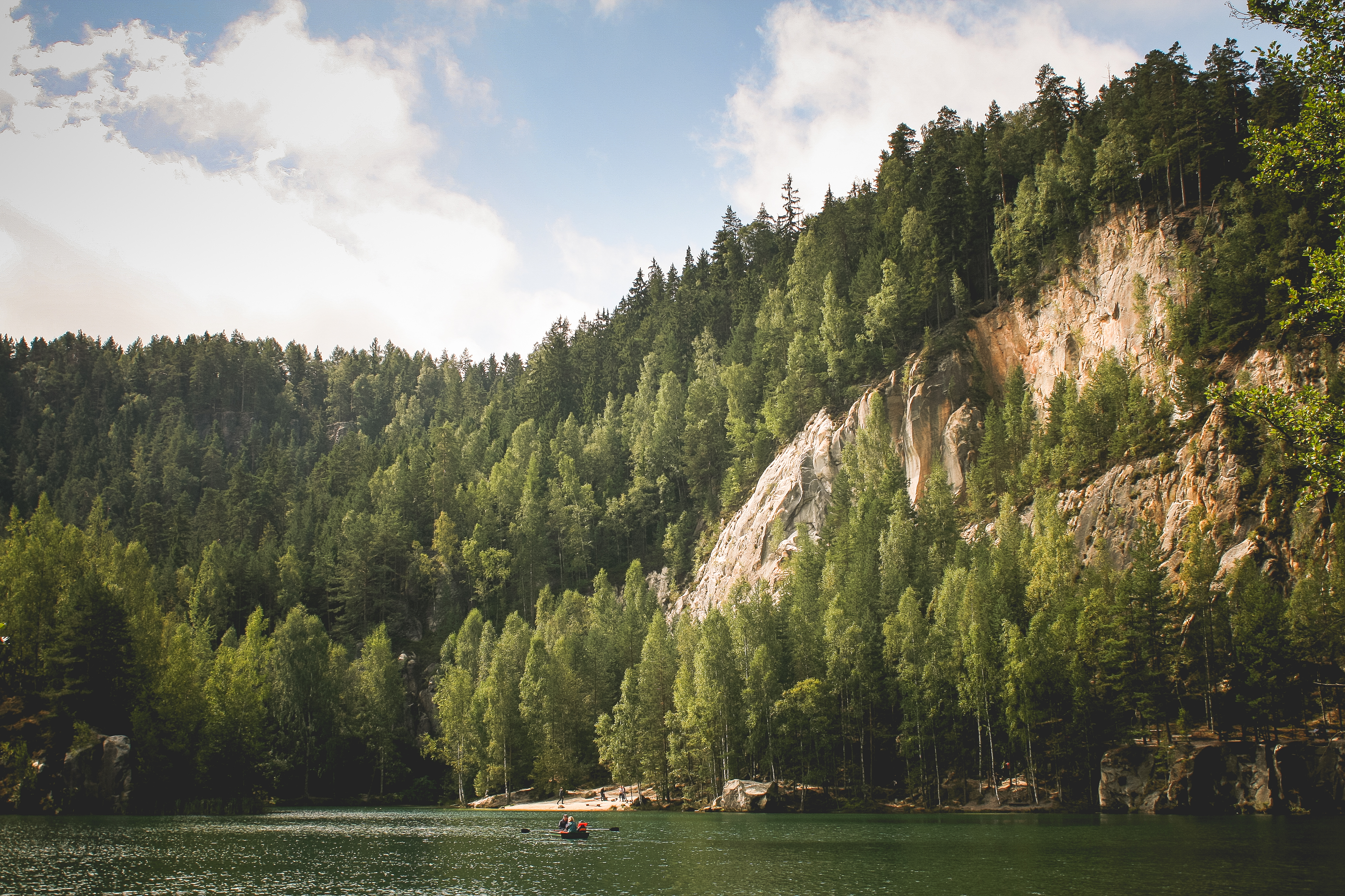 Download Fairytale Lakeside in Adrspach FREE Stock Photo