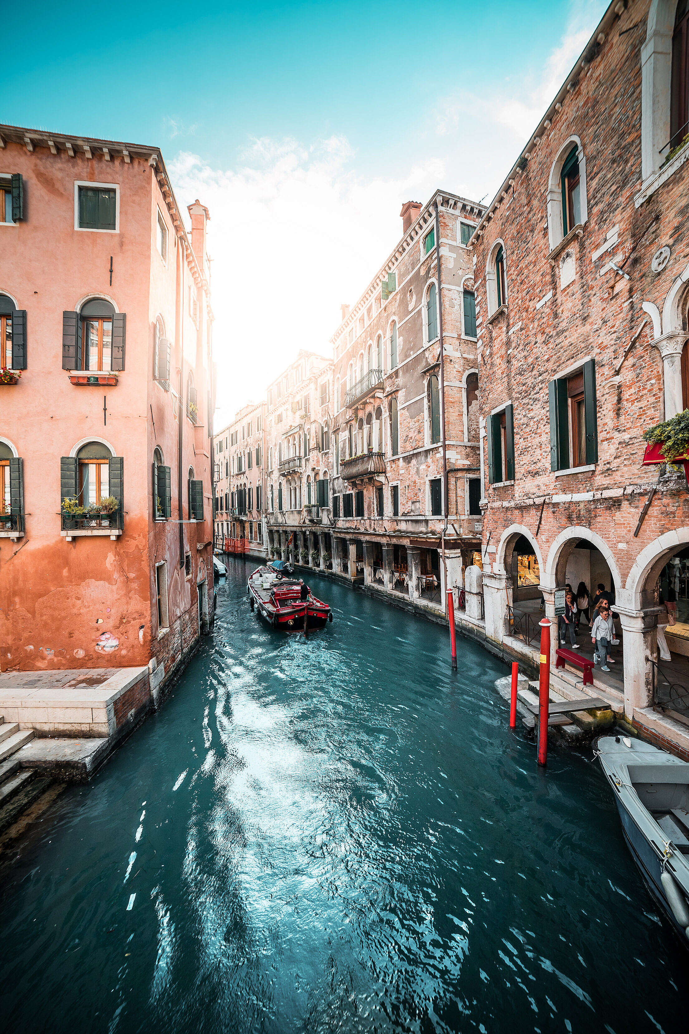 Famous Canals in Venice, Italy Free Stock Photo