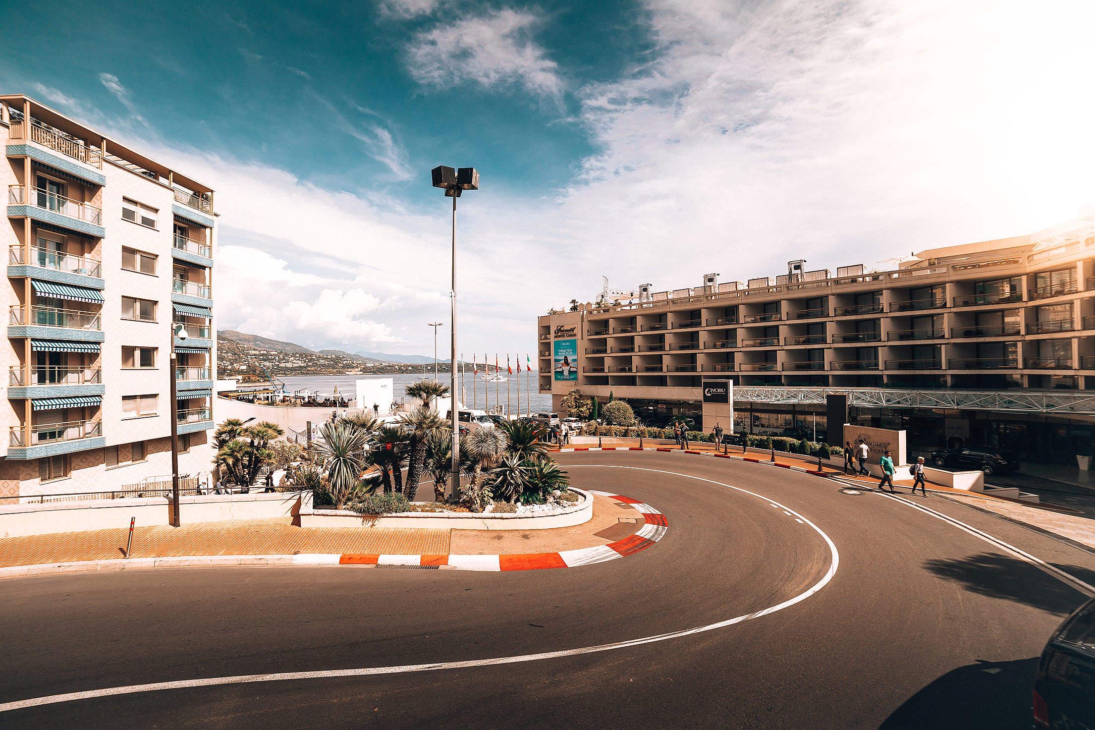 Famous F1 Turn in Monaco Free Stock Photo