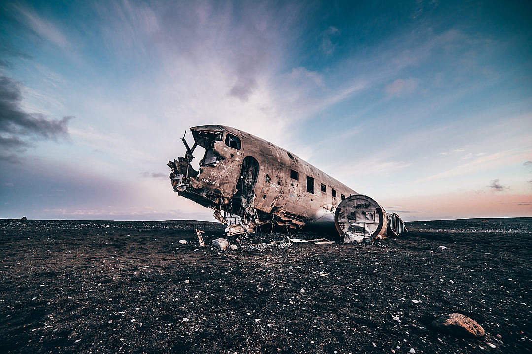 Download Famous Plane in Iceland FREE Stock Photo
