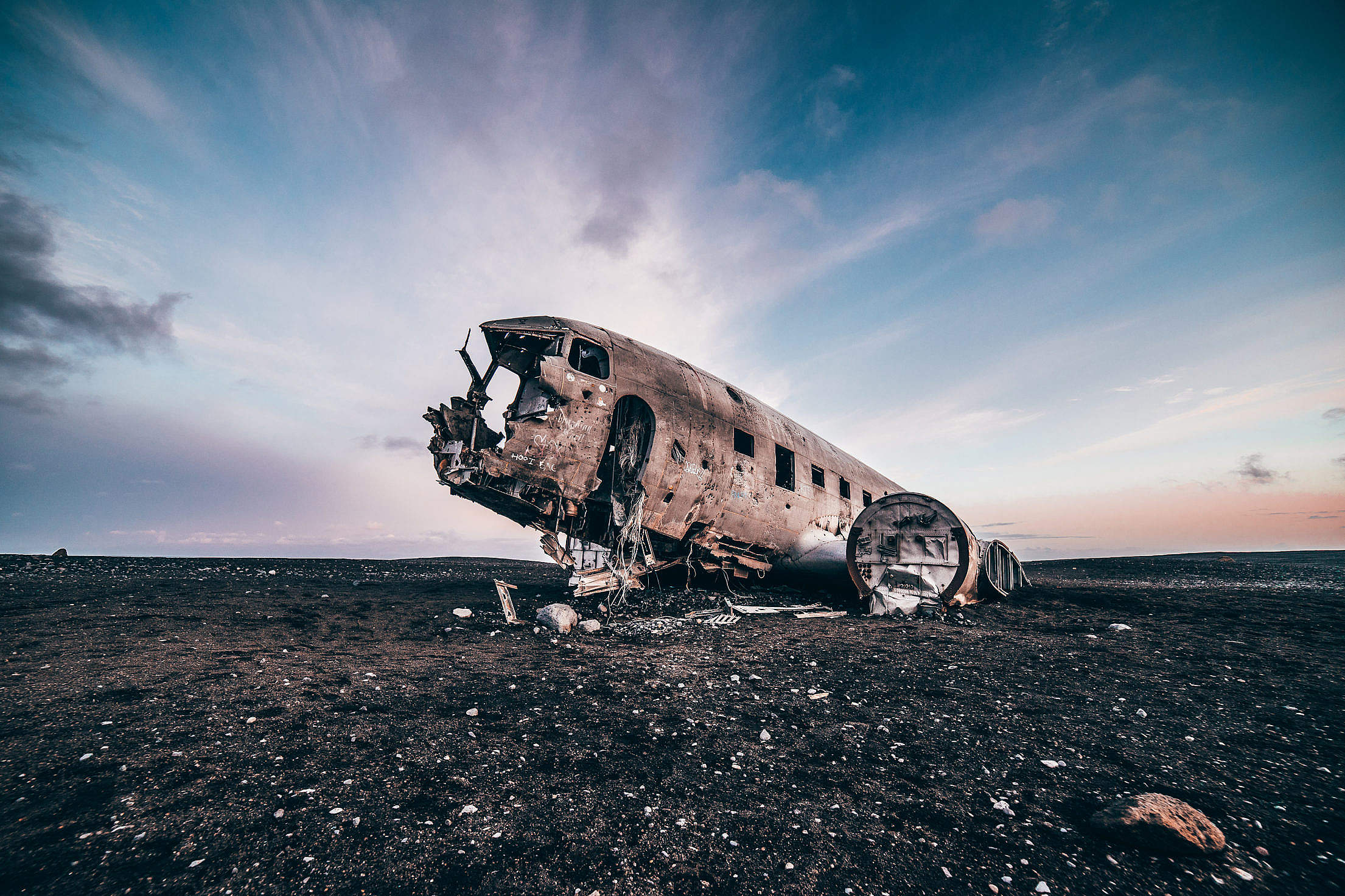 Famous Plane in Iceland Free Stock Photo