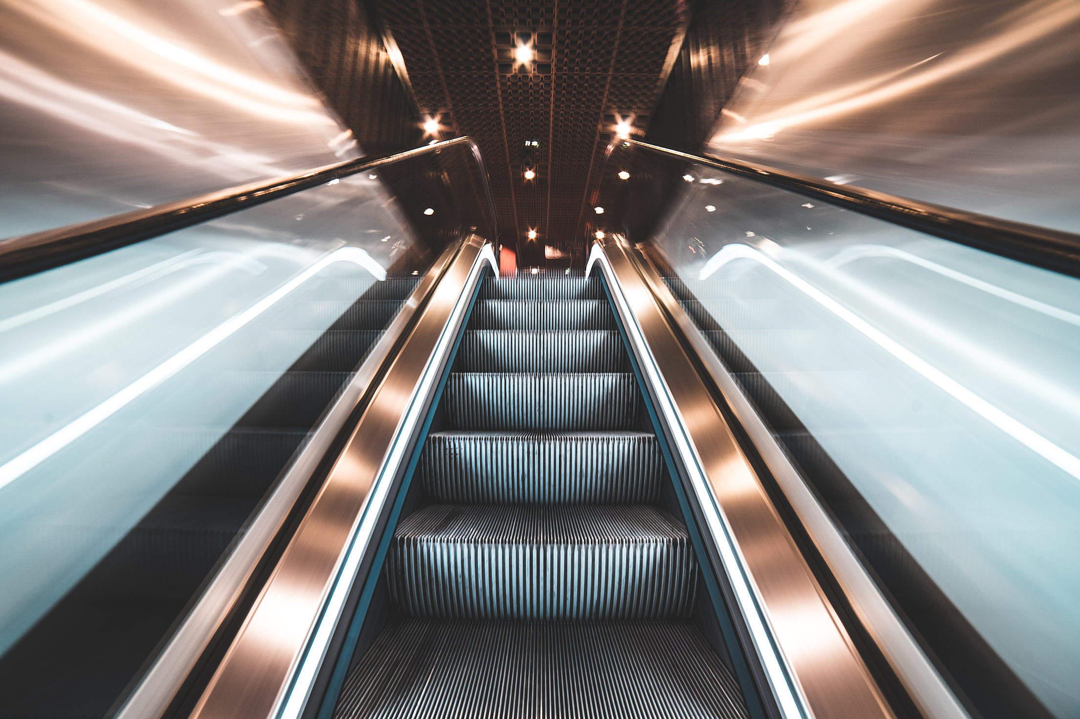 Fast Escalator Free Stock Photo