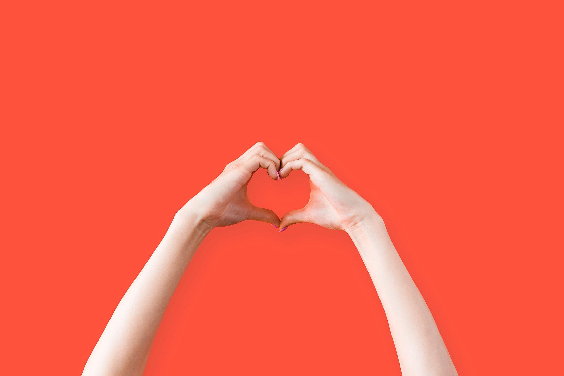 Female Hands Love Heart Symbol Free Stock Photo
