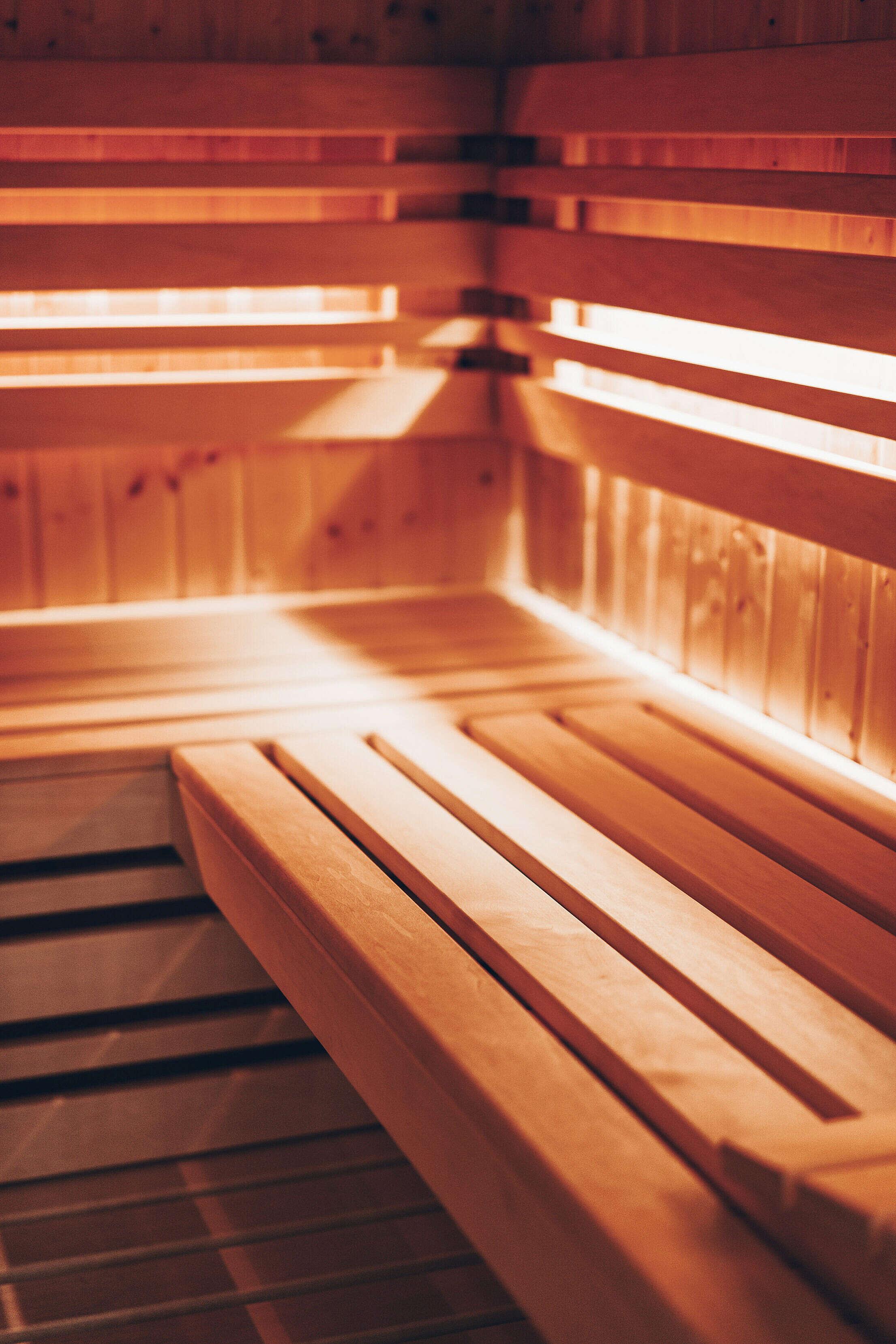 Finnish Sauna Vertical Free Stock Photo