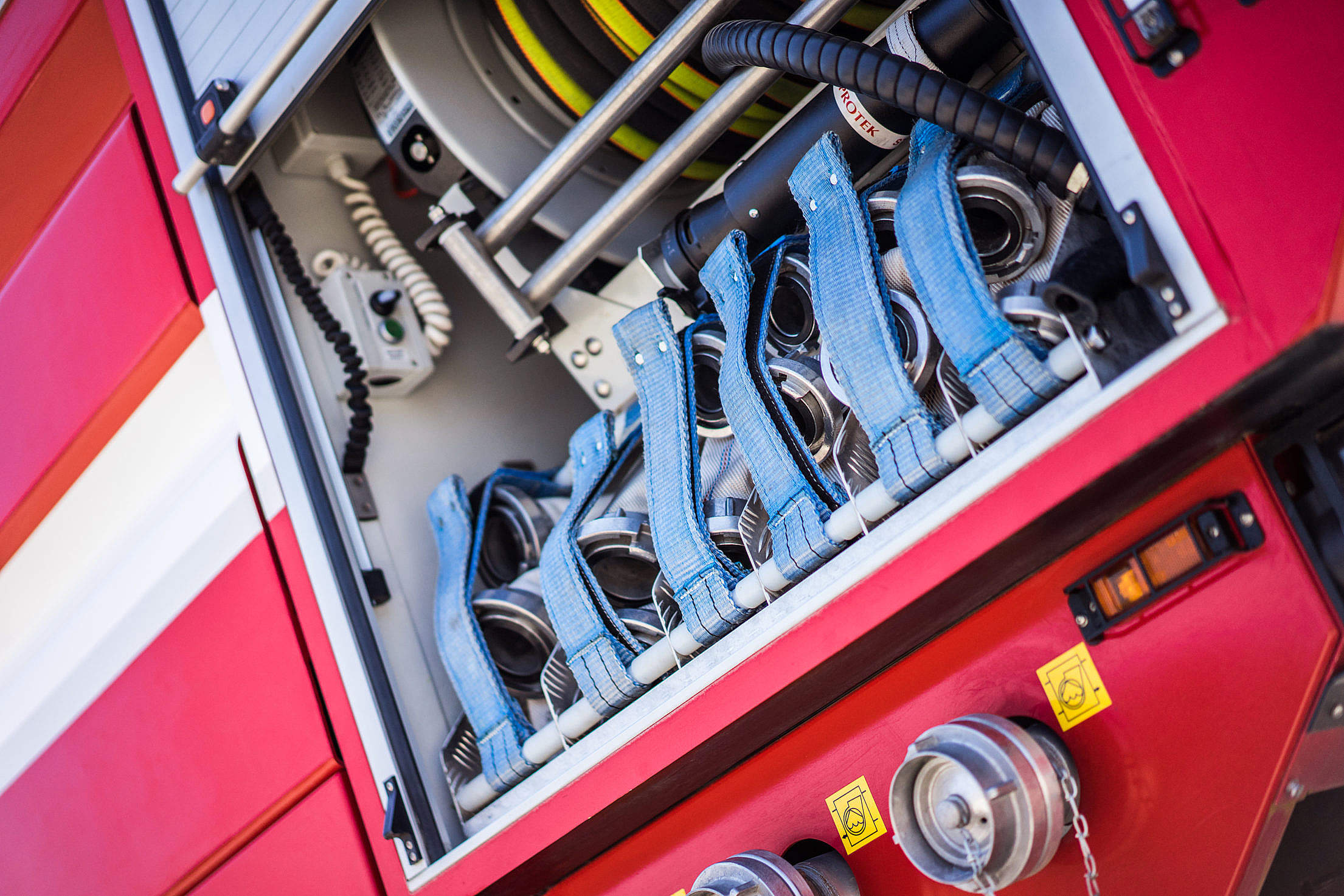 Fire Truck Equipment Close Up #2 Free Stock Photo