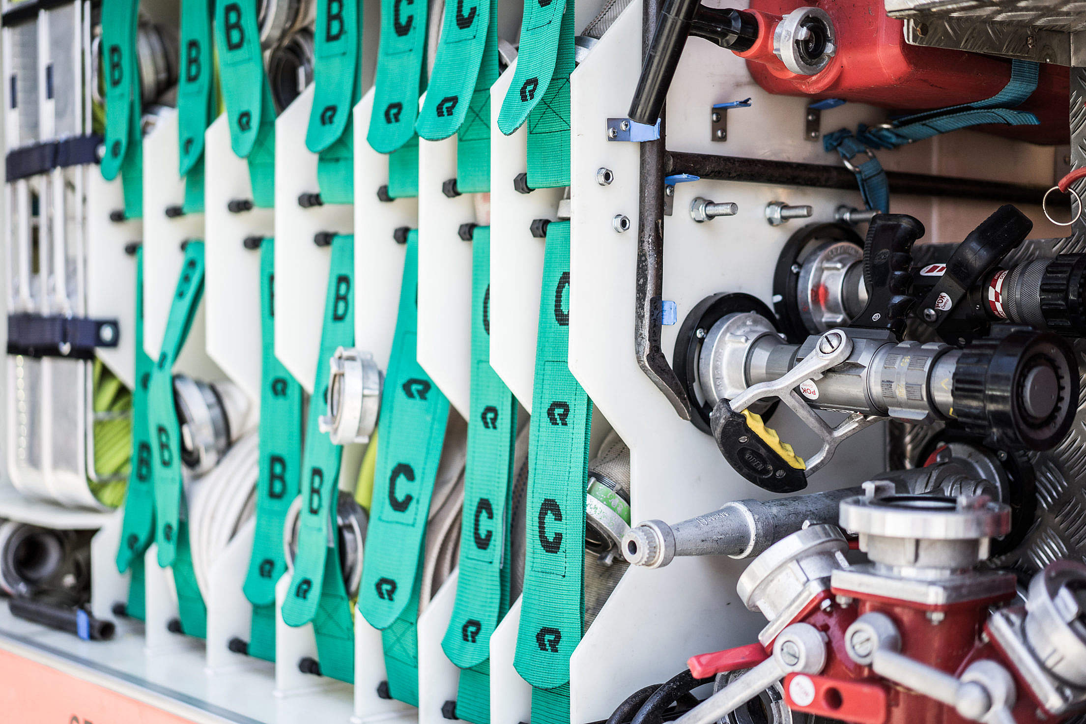 Fire Truck Equipment Close Up Free Stock Photo