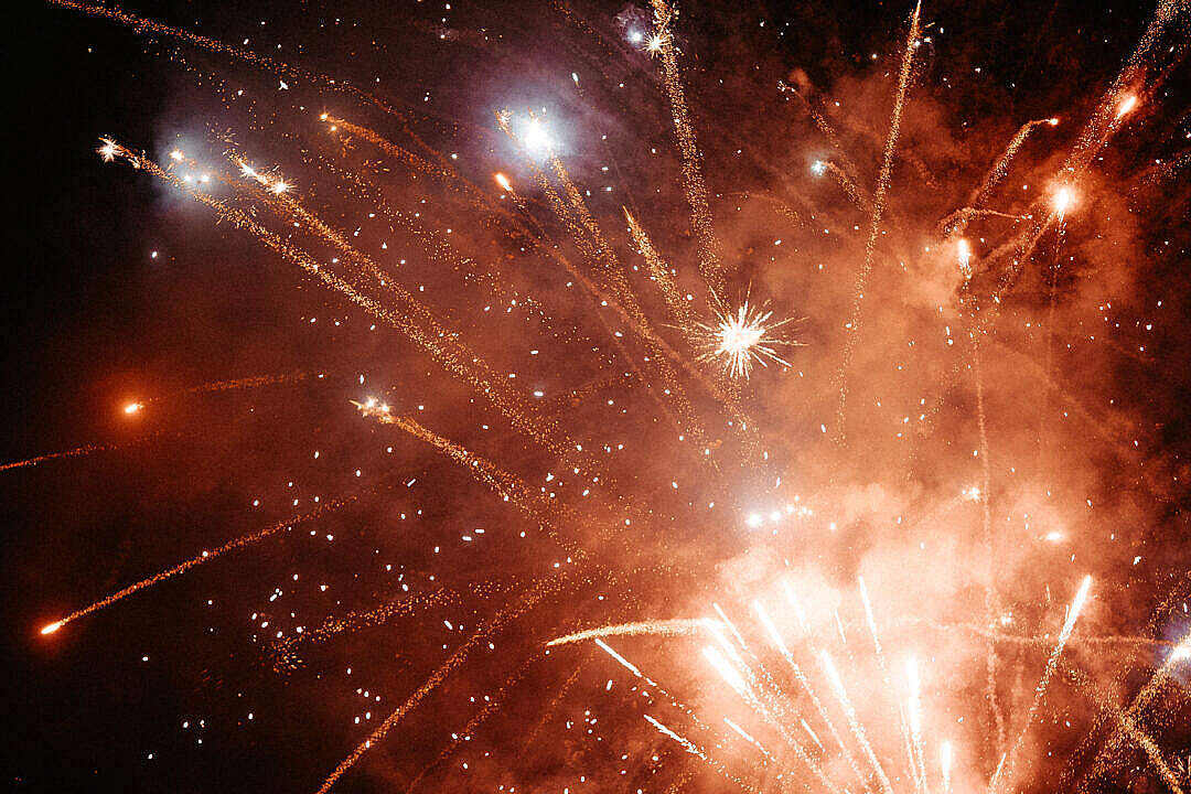 Download Fireworks Background FREE Stock Photo