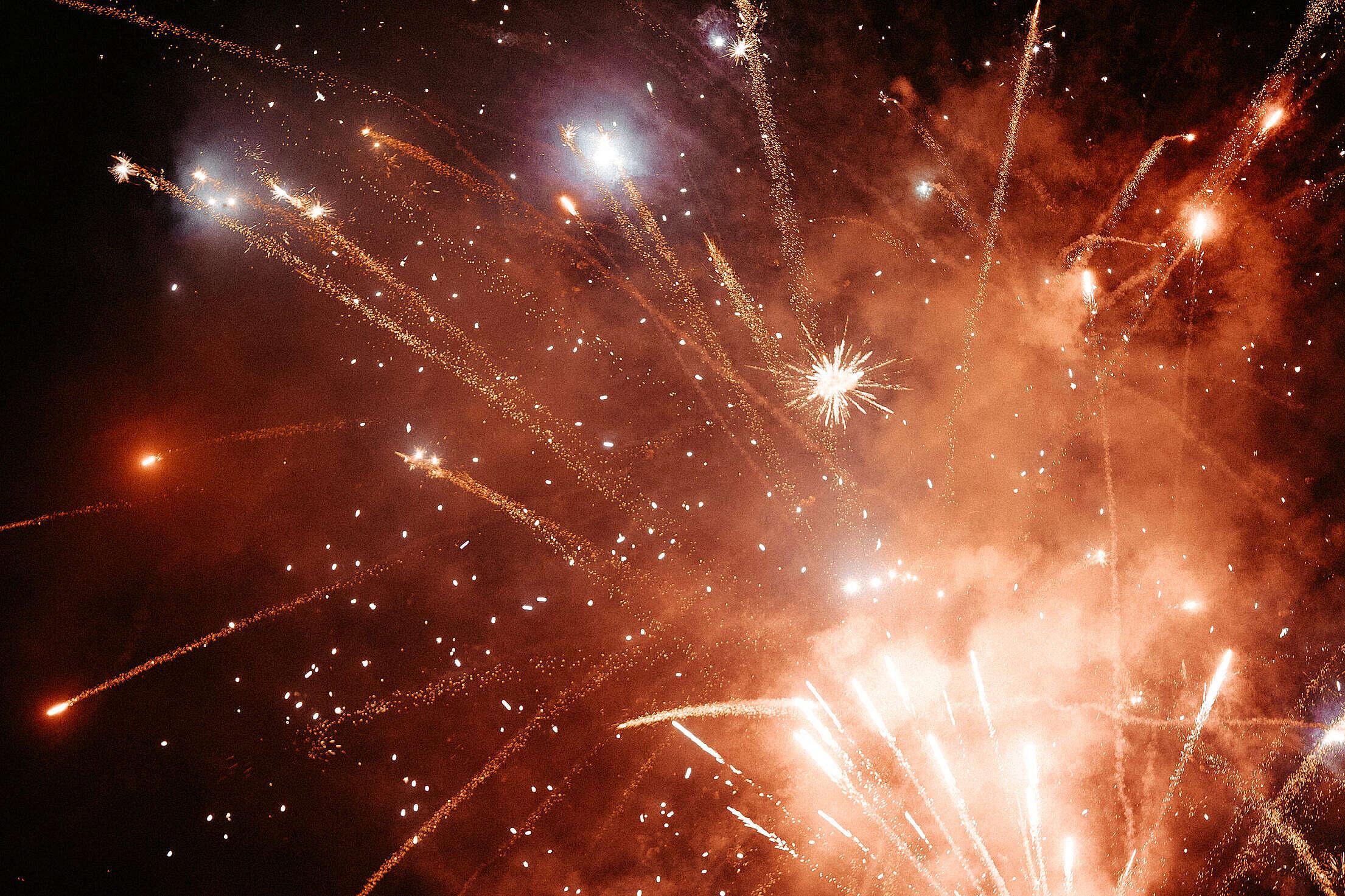 Fireworks Background Free Stock Photo